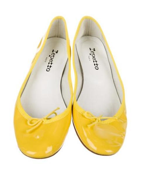 15099805573 Lyst - Repetto Patent Leather Round-toe Flats in Yellow