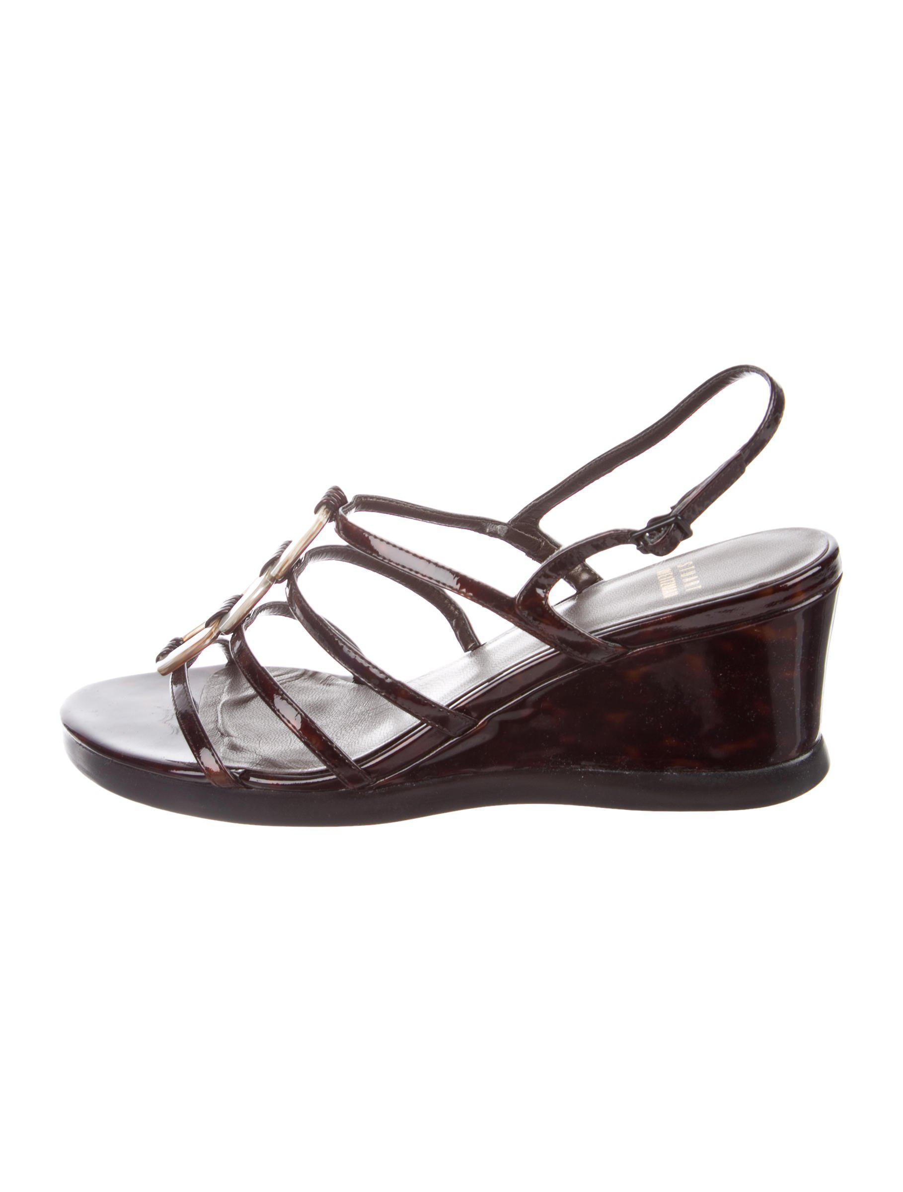 Stuart Weitzman Tortoiseshell Multistrap Wedges largest supplier sale online outlet best wholesale fast delivery cheap price outlet view discount best store to get 4KxURbYA