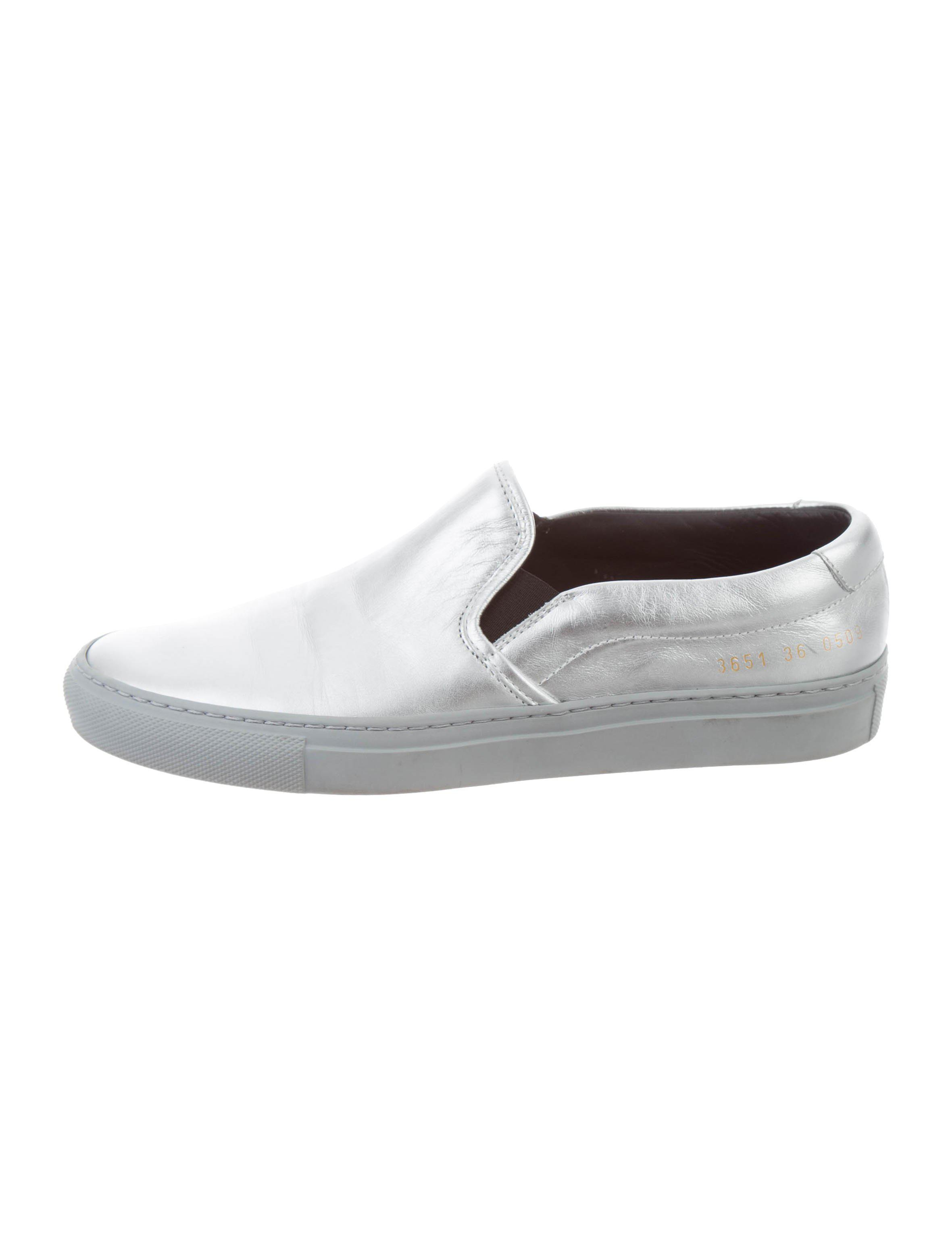 ae263e49ce35 Lyst - Common Projects Slip-on Sneakers Silver in Metallic