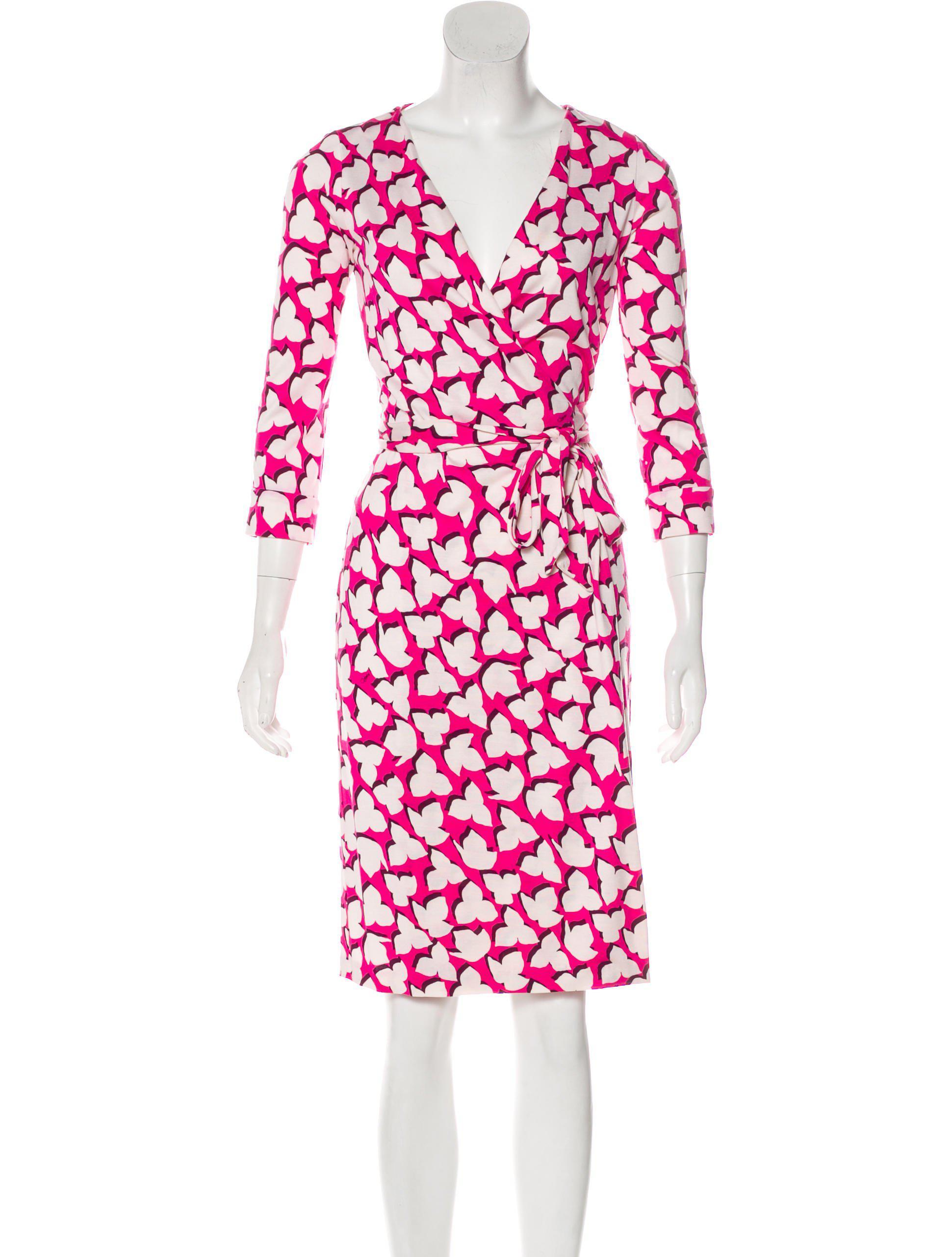 f6e647201f7f Lyst - Diane Von Furstenberg New Julian Two Silk Dress Fuchsia in Pink