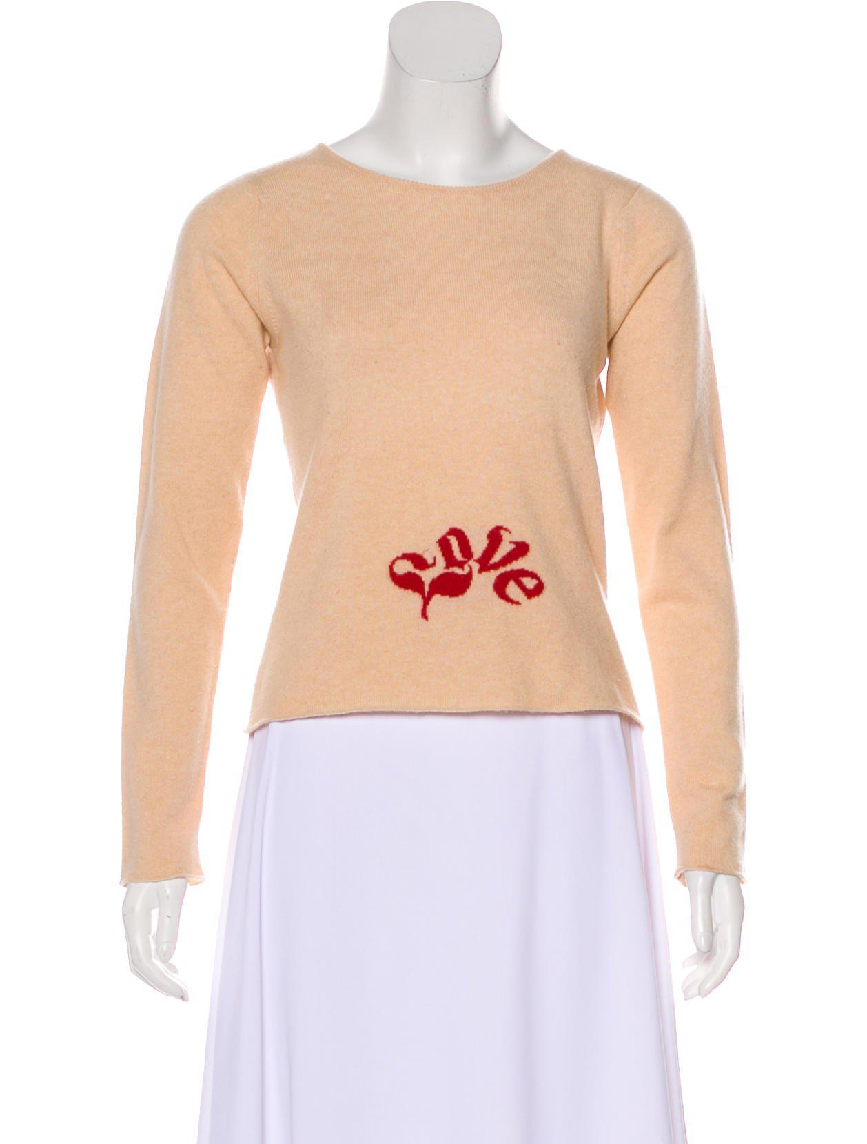 How Much Cheap Online Lucien Pellat-Finet Long Sleeve Cashmere Top From China Online iMuhKhwPQF