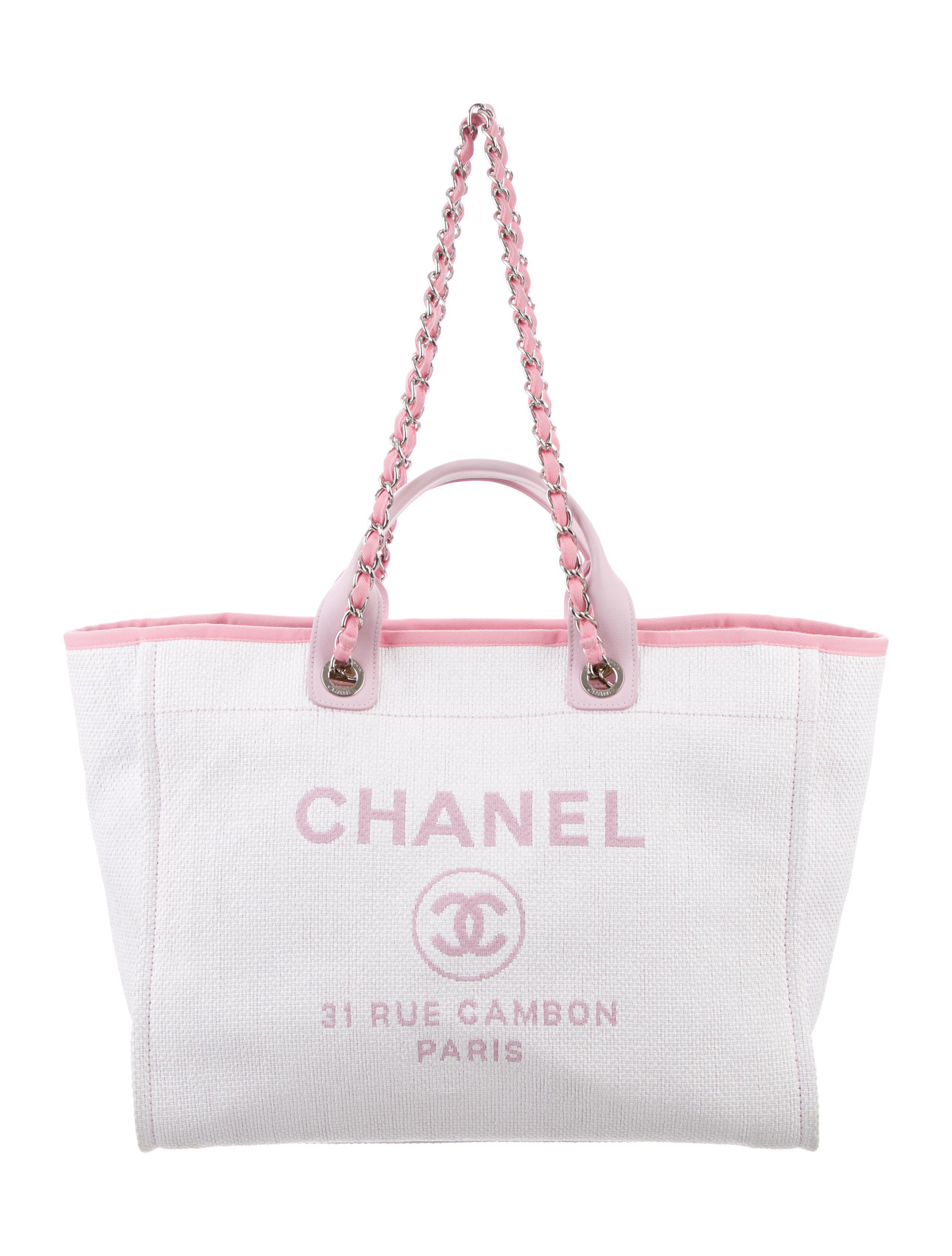 30430e657ecb Lyst - Chanel 2016 Medium Deauville Tote Pink in Metallic