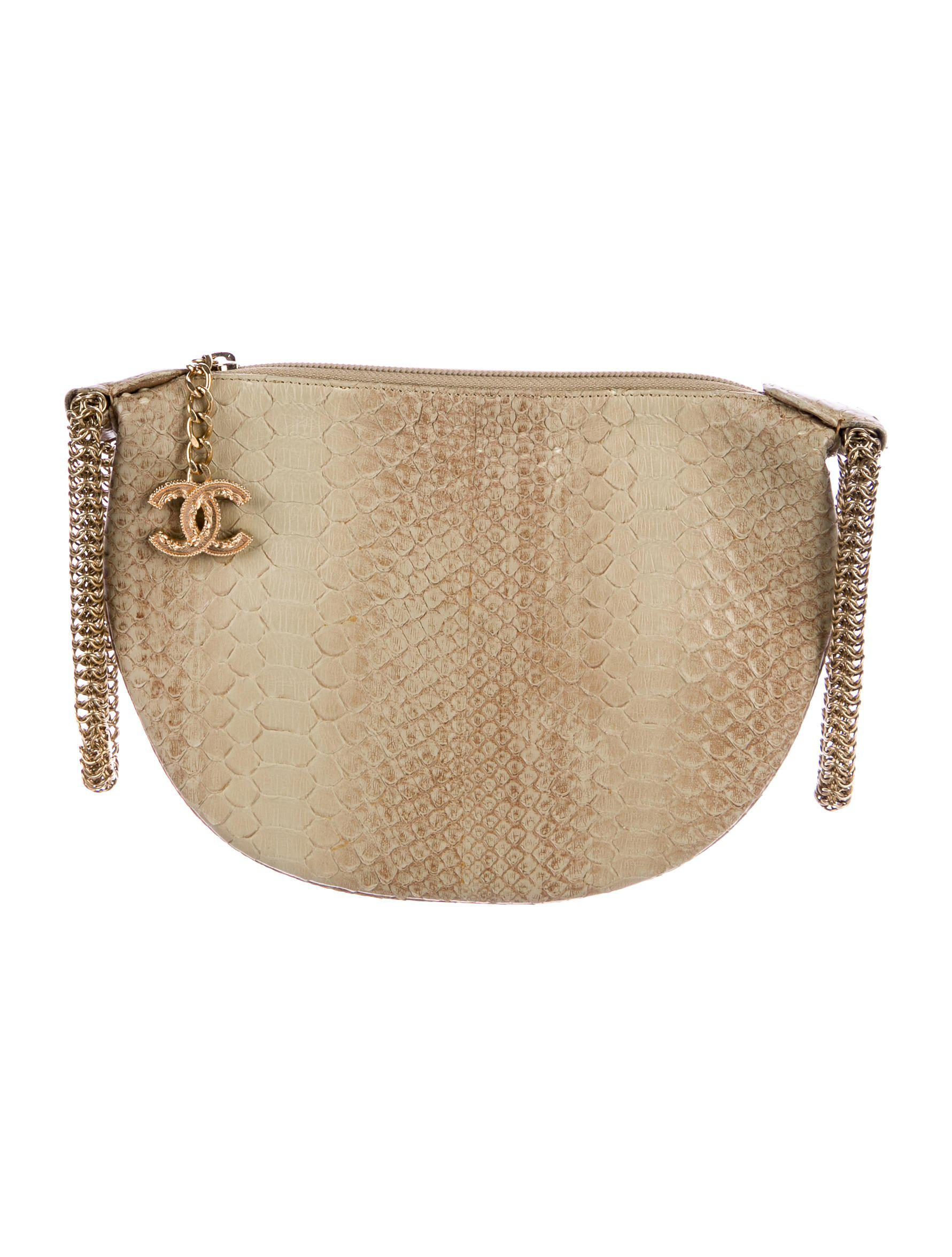 Lyst - Chanel Python Evening Bag Brown in Metallic a78a93fa47079