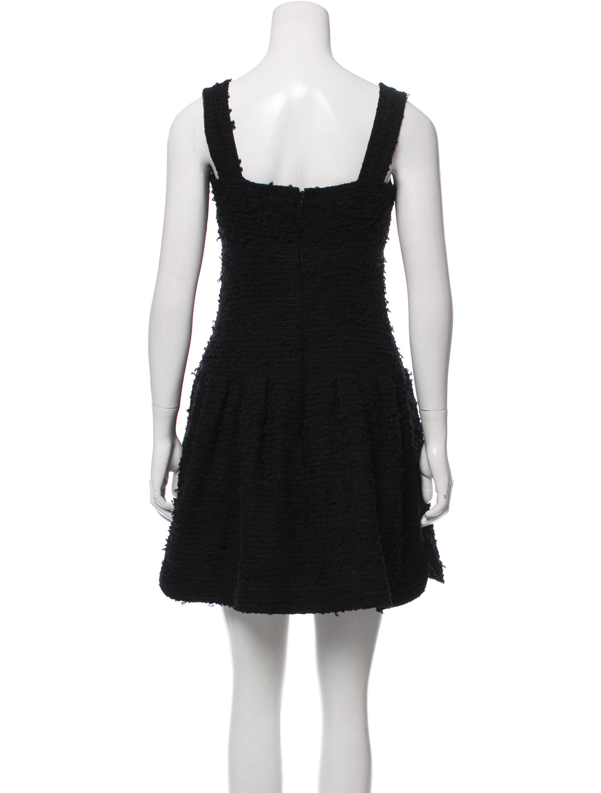 Chanel 2017 Fantasy Tweed Dress In Black