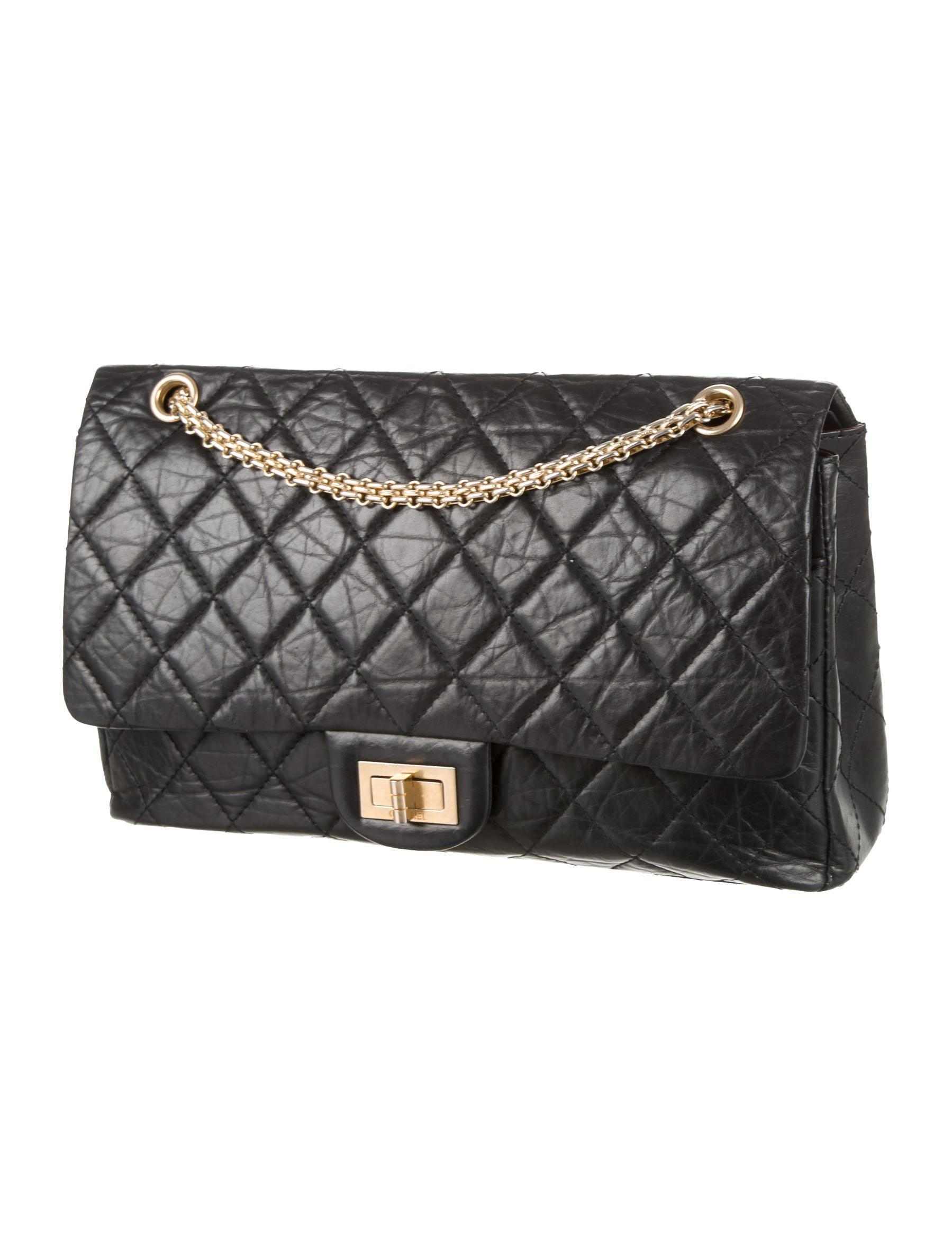 7955208cd962 Lyst - Chanel Anniversary 2.55 Reissue 227 Flap Bag Black in Metallic