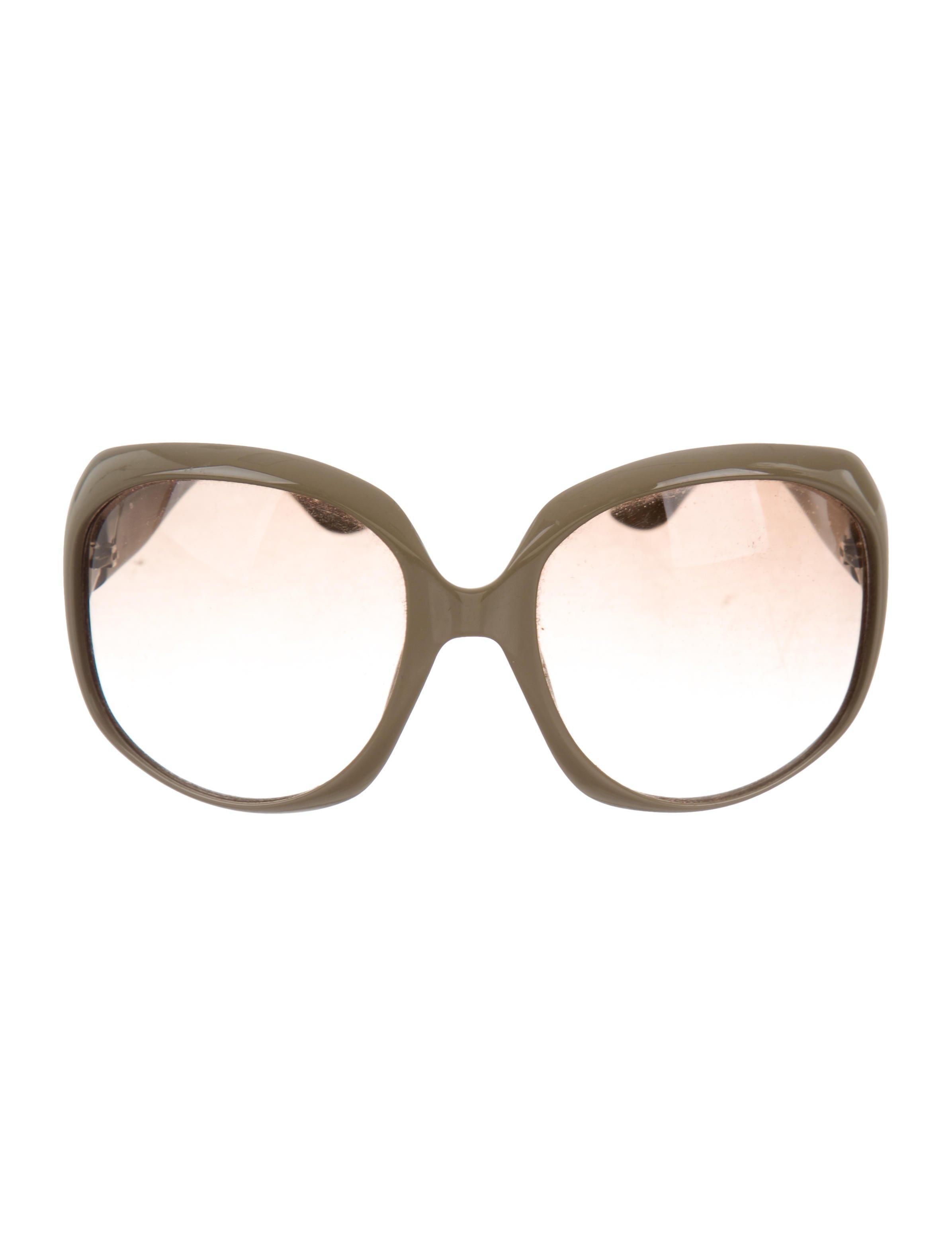 834f7f631d4 Lyst - Dior Glossy 1 Sunglasses Brown in Metallic
