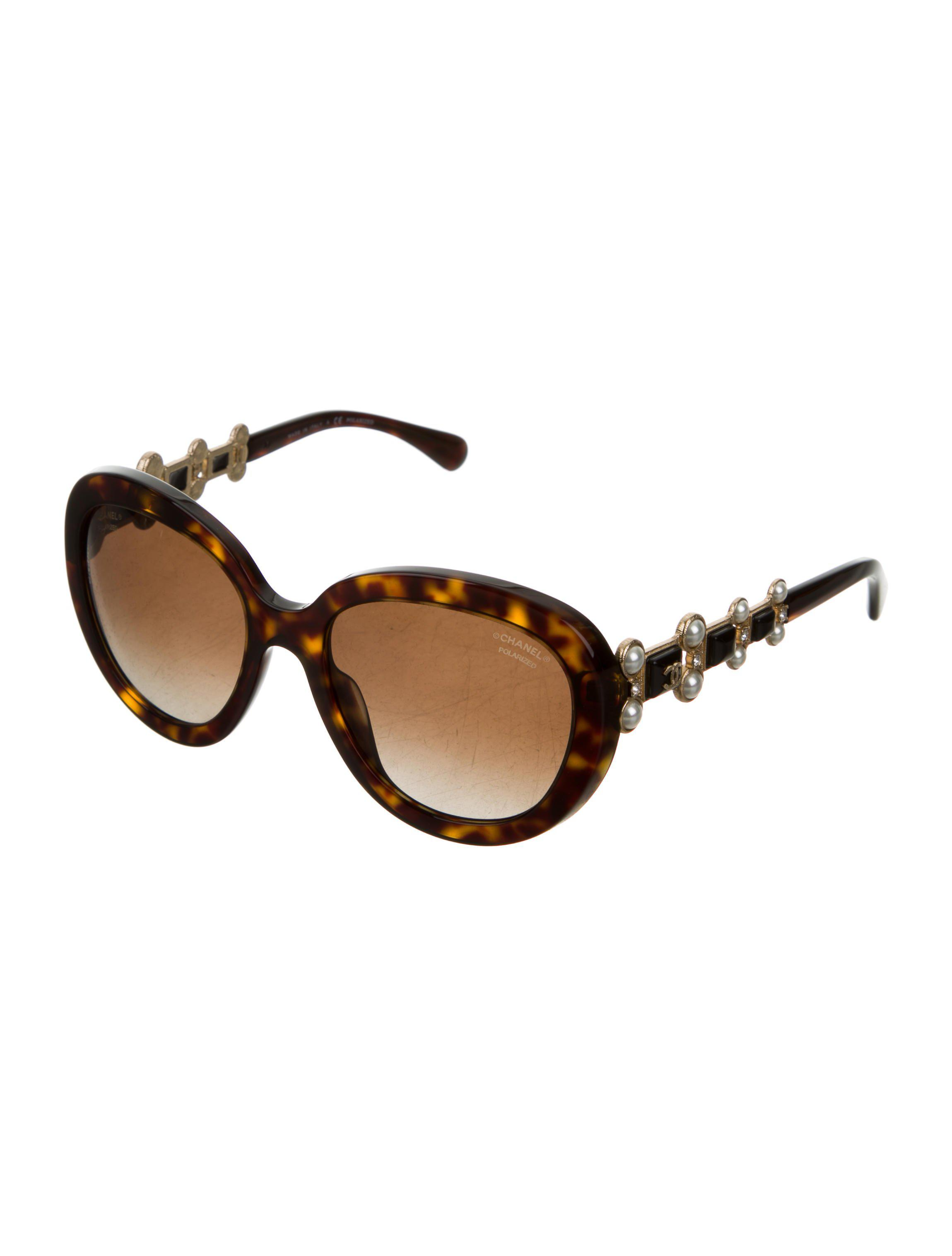 8a880034e0036 Chanel - Metallic Bijou Polarized Sunglasses W  Tags Brown - Lyst. View  fullscreen