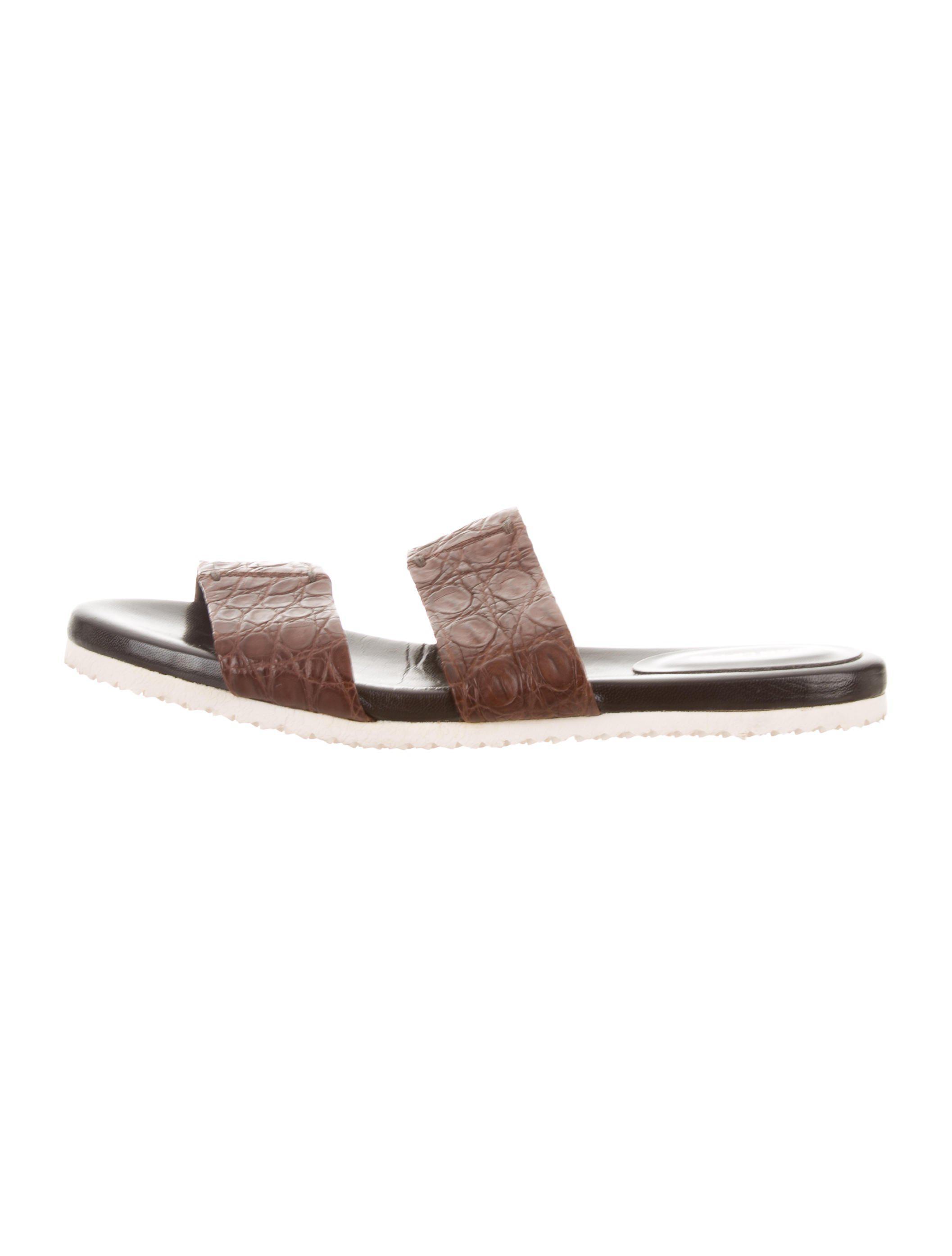 Adam Lippes Embossed Slide Sandals online cheap quality MGWlJFcBo