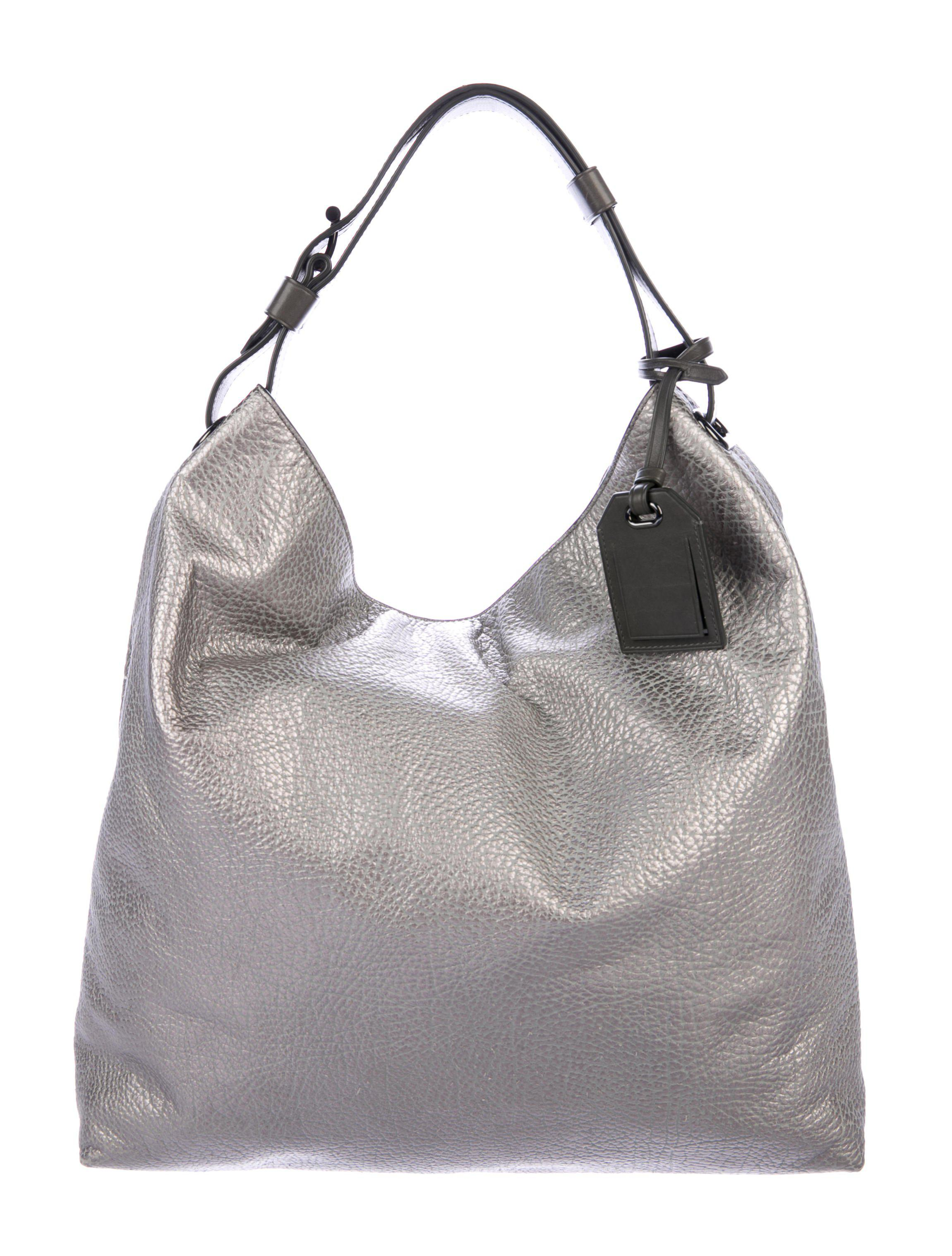 b9da212e0c09 Lyst - Reed Krakoff Grain Leather Hobo in Metallic