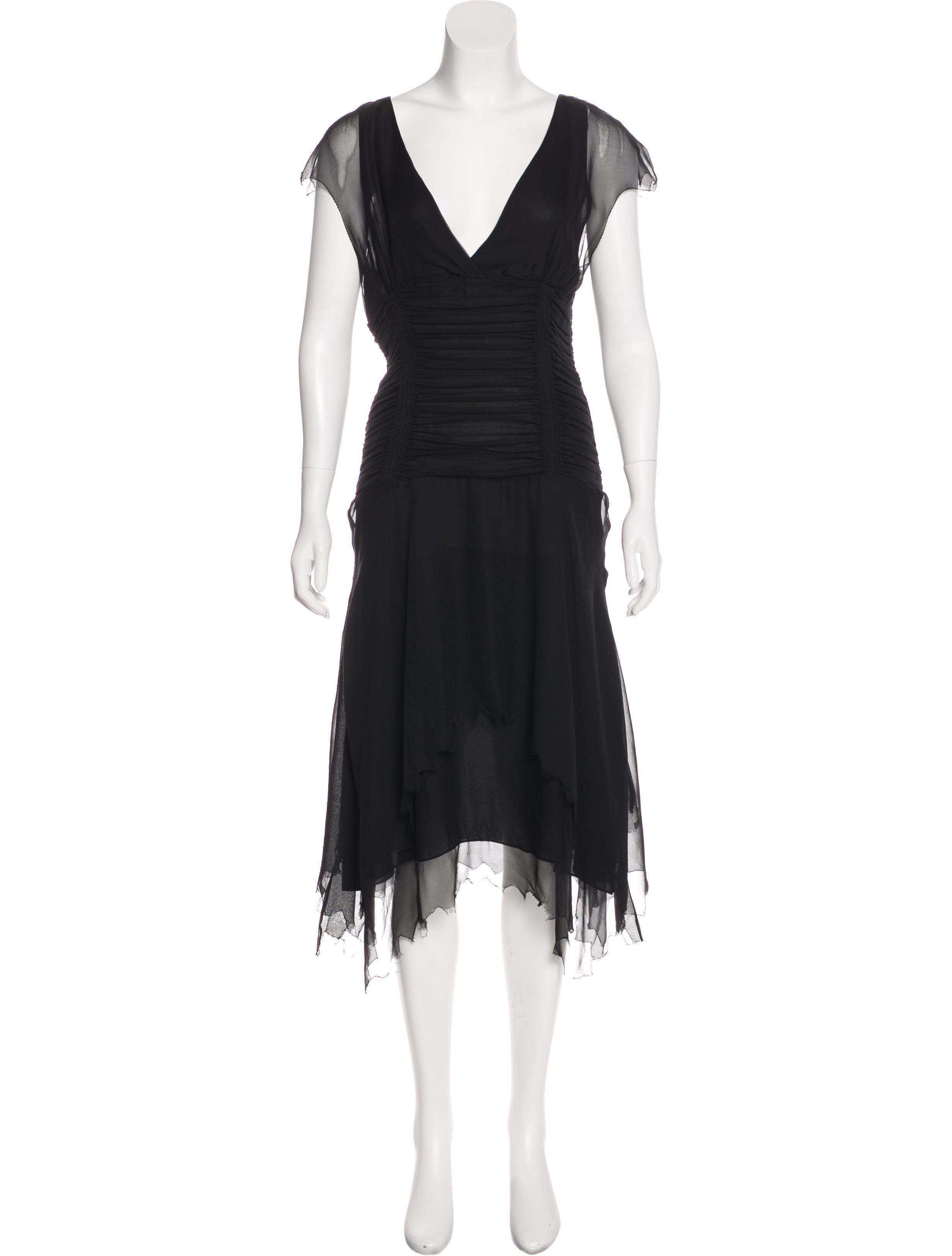 90146aa76b0 Lyst - Lela Rose Sleeveless Midi Dress in Black