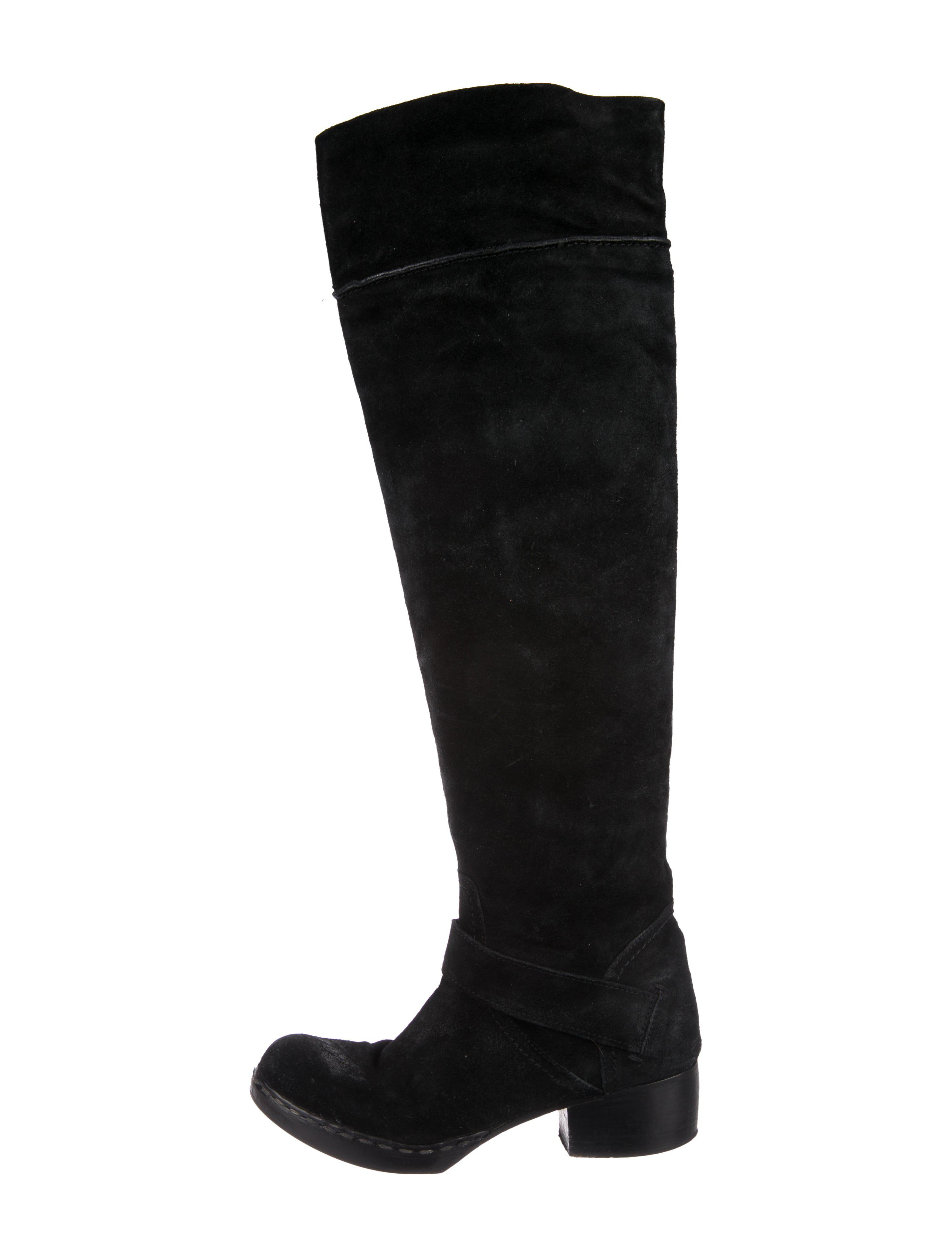 Costume National Suede Over-The-Knee Boots