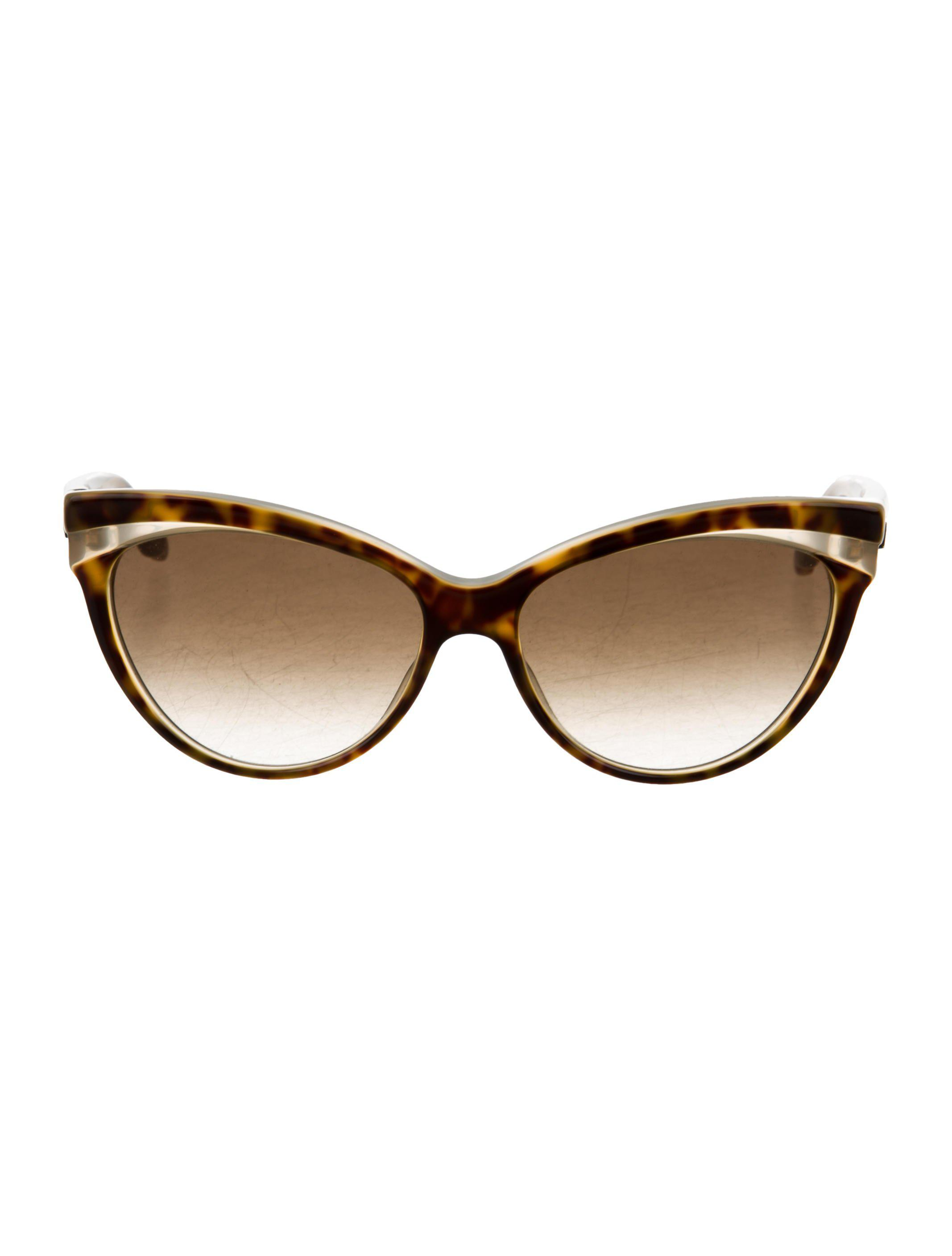 068482ca2df Lyst - Dior Gradient Cat-eye Sunglasses Brown in Natural
