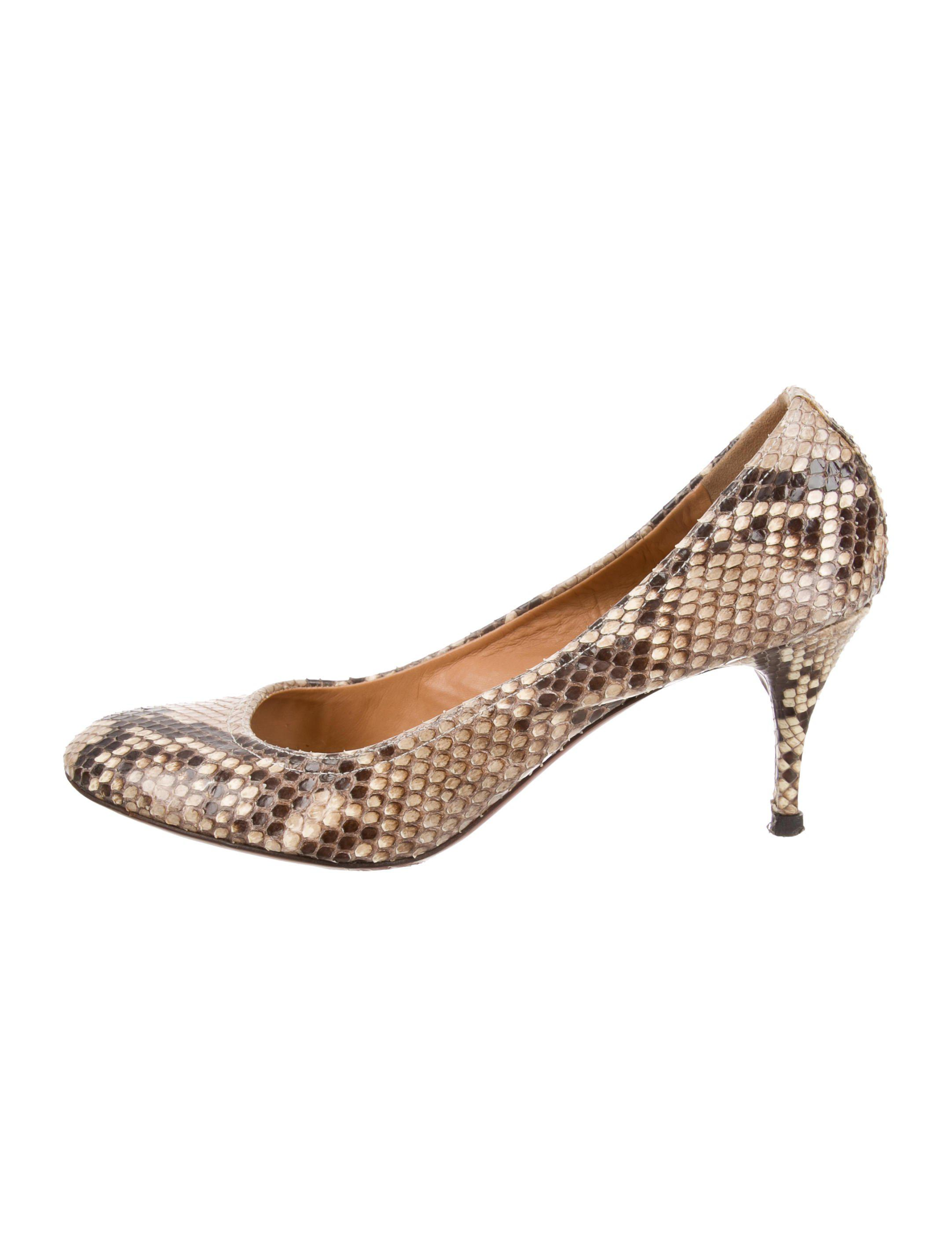outlet tumblr Lanvin Snakeskin Round-Toe Pumps discount original huge surprise cheap price clearance IKRckqE9y