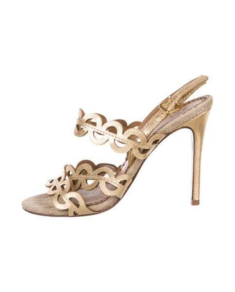 acfbedd3dd59 Lyst - Tory Burch Ankle Strap Sandals Gold in Metallic