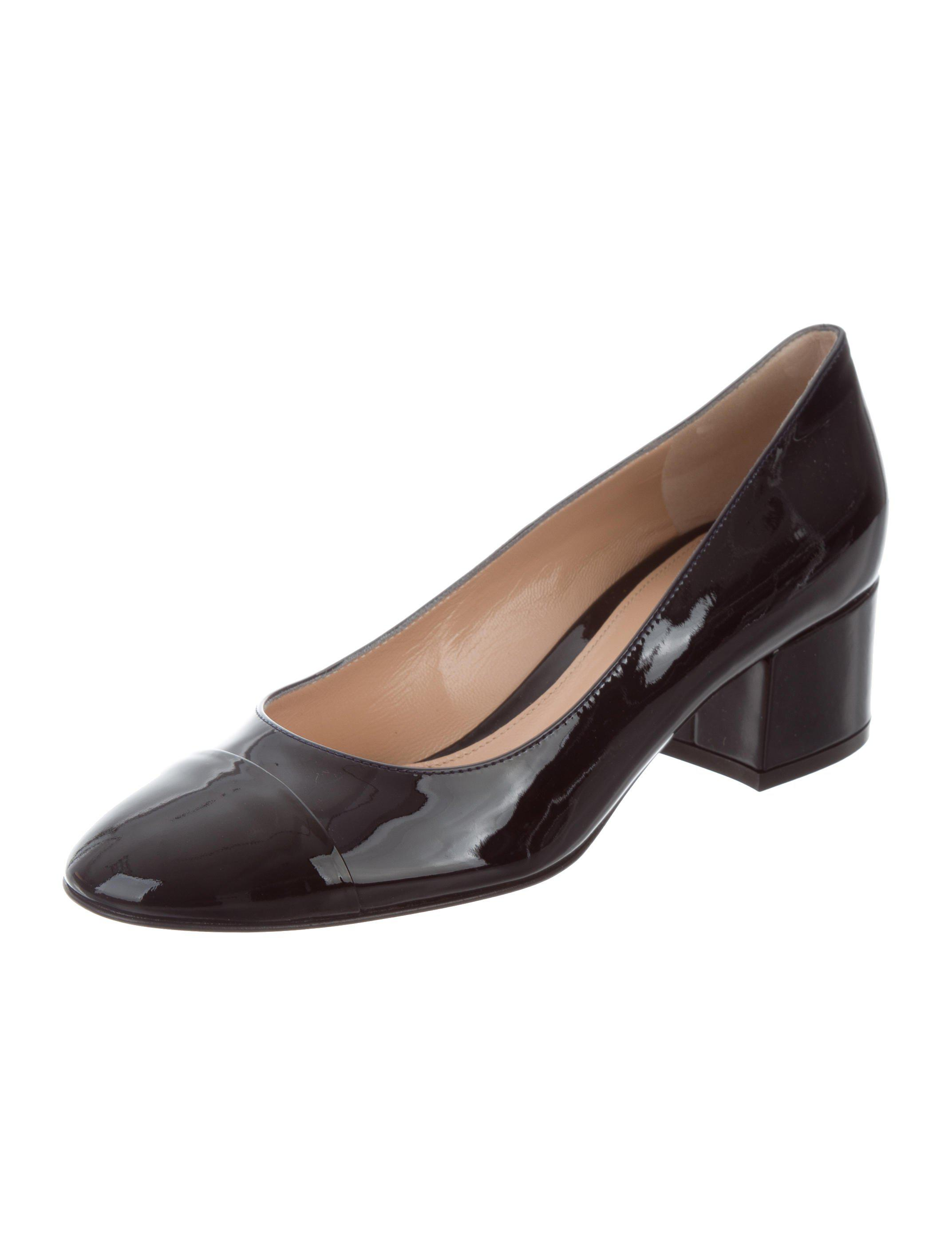 cheap sale popular Gianvito Rossi Patent Leather Cap-Toe Pumps w/ Tags outlet shop offer fake sale online clearance shop Pk1YJ3