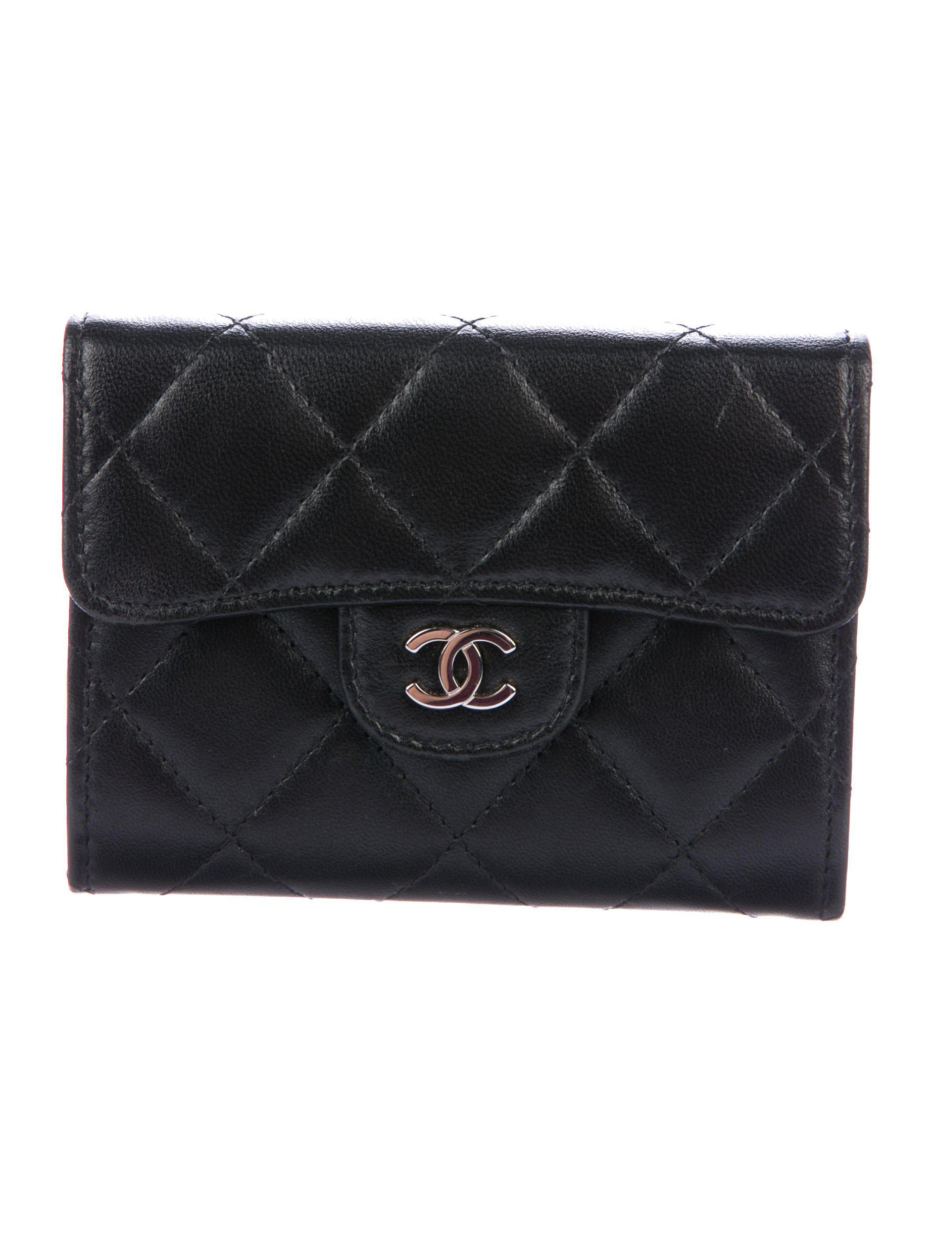 Lyst chanel quilted cc business card holder black in metallic chanel womens metallic quilted cc business card holder black reheart Choice Image
