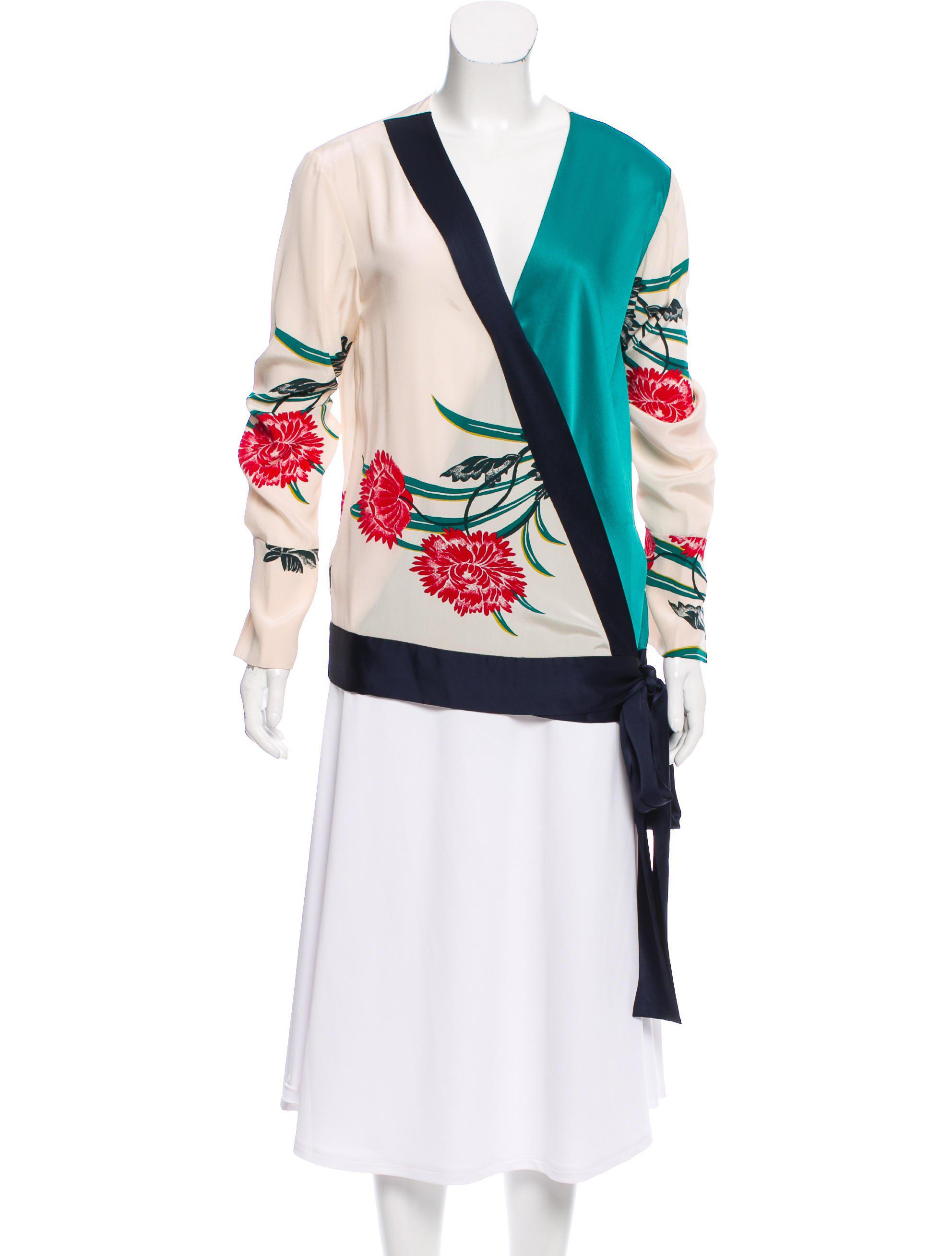 Diane von Furstenberg Silk Printed Blouse w/ Tags Best Sale Cheap Price Sale Cheapest Price Outlet Limited Edition Discount Low Price 2018 Newest Cheap Online RBSAcHN