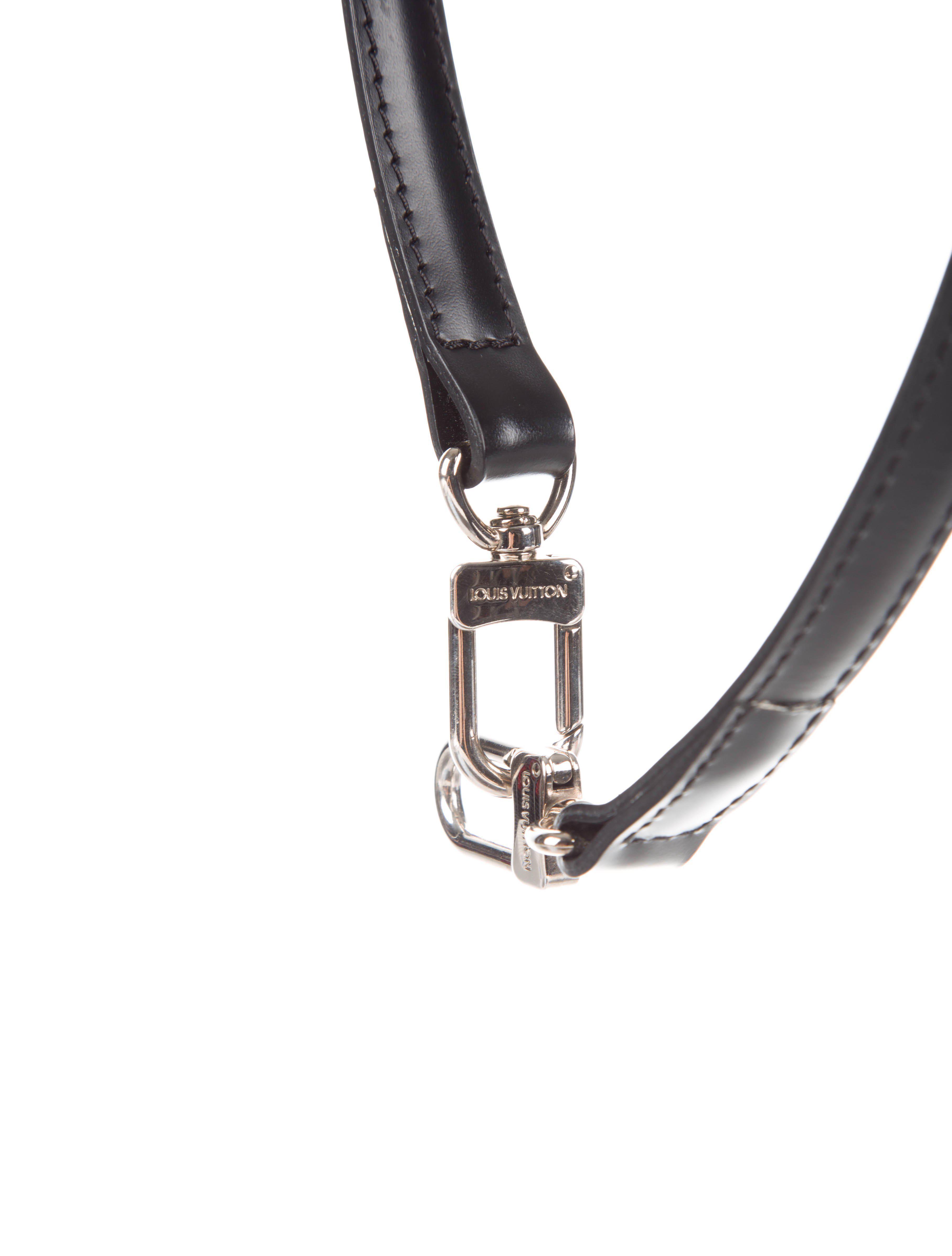 975b43c67a68 ... latest design dfd53 4bd16 Lyst - Louis Vuitton Adjustable Shoulder  Strap Black in Meta ...
