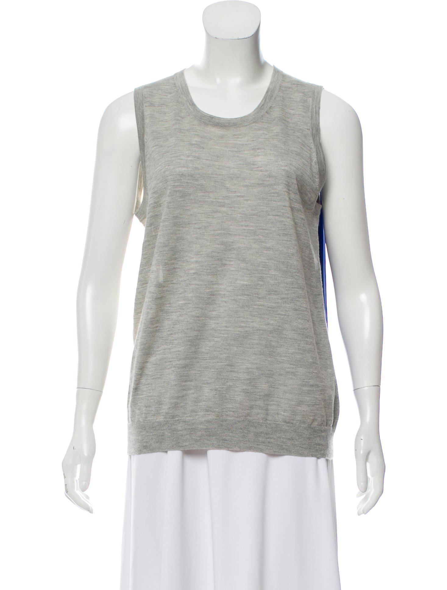 ee340a6e60dfa Lyst - Derek Lam Silk-cashmere Sleeveless Sweater Grey in Gray