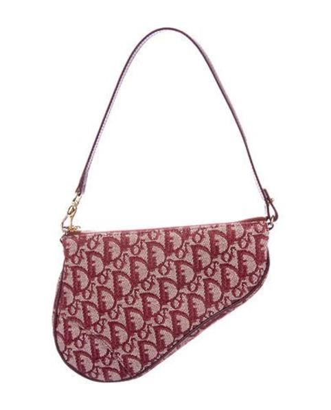 787ba0a3d8f Lyst - Dior Diorissimo Mini Saddle Bag Gold in Metallic