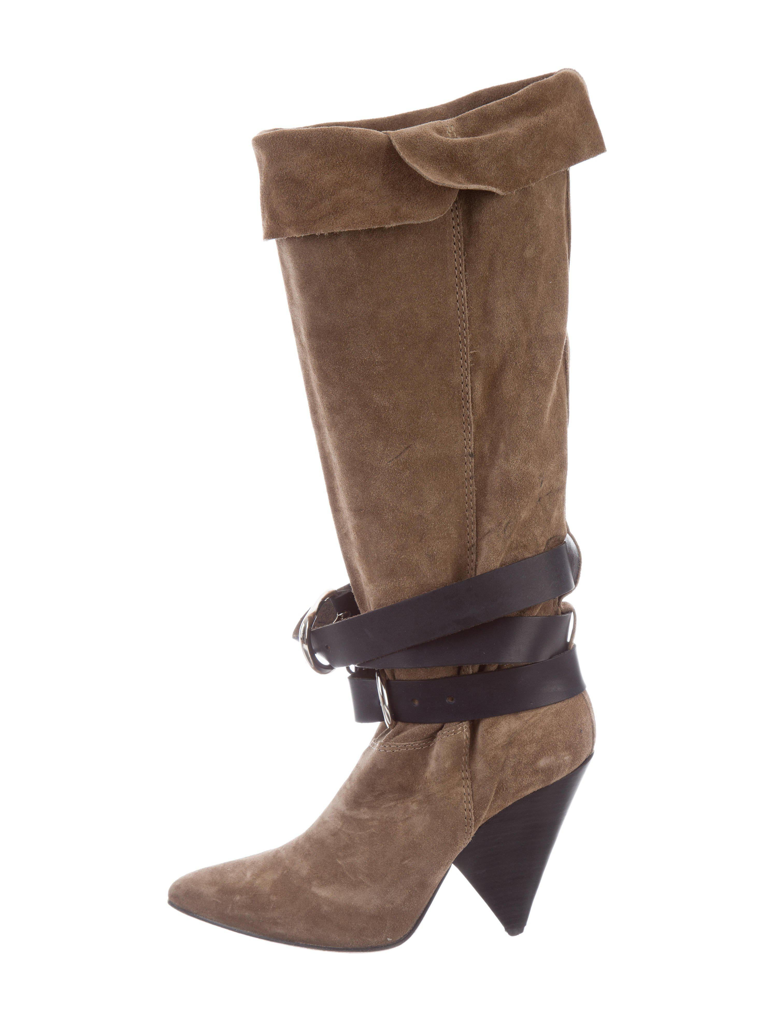 Isabel Marant Ponyhair-Trimmed Mid-Calf Boots cheap sale latest collections clearance find great buy cheap cost nicekicks online cReeZMuXj
