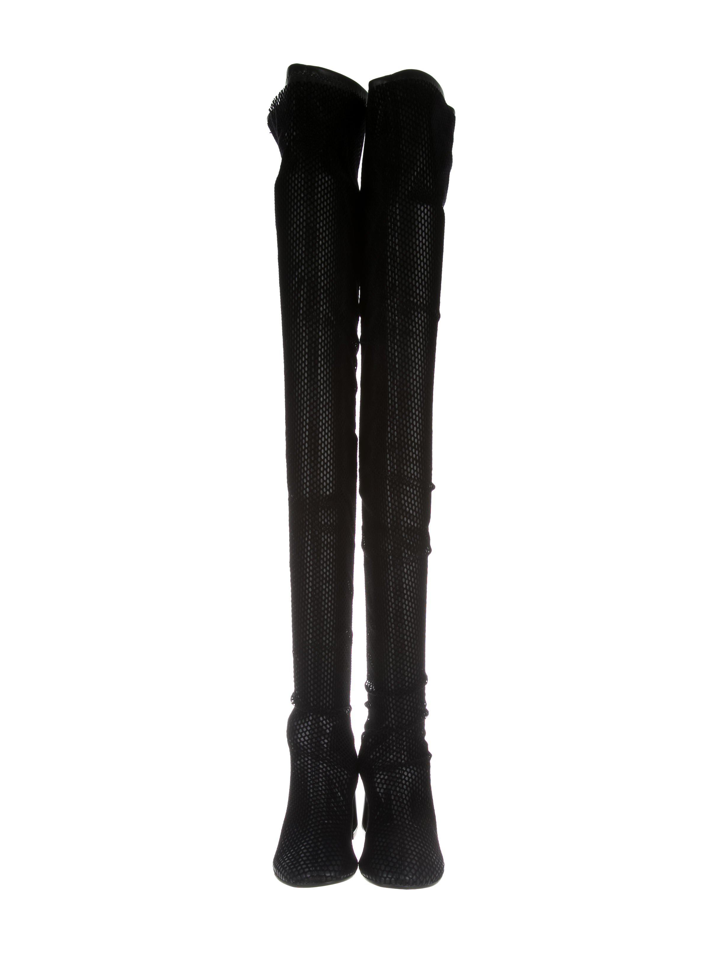 Maison Margiela Suede Laser Cut Thigh-High Boots w/ Tags
