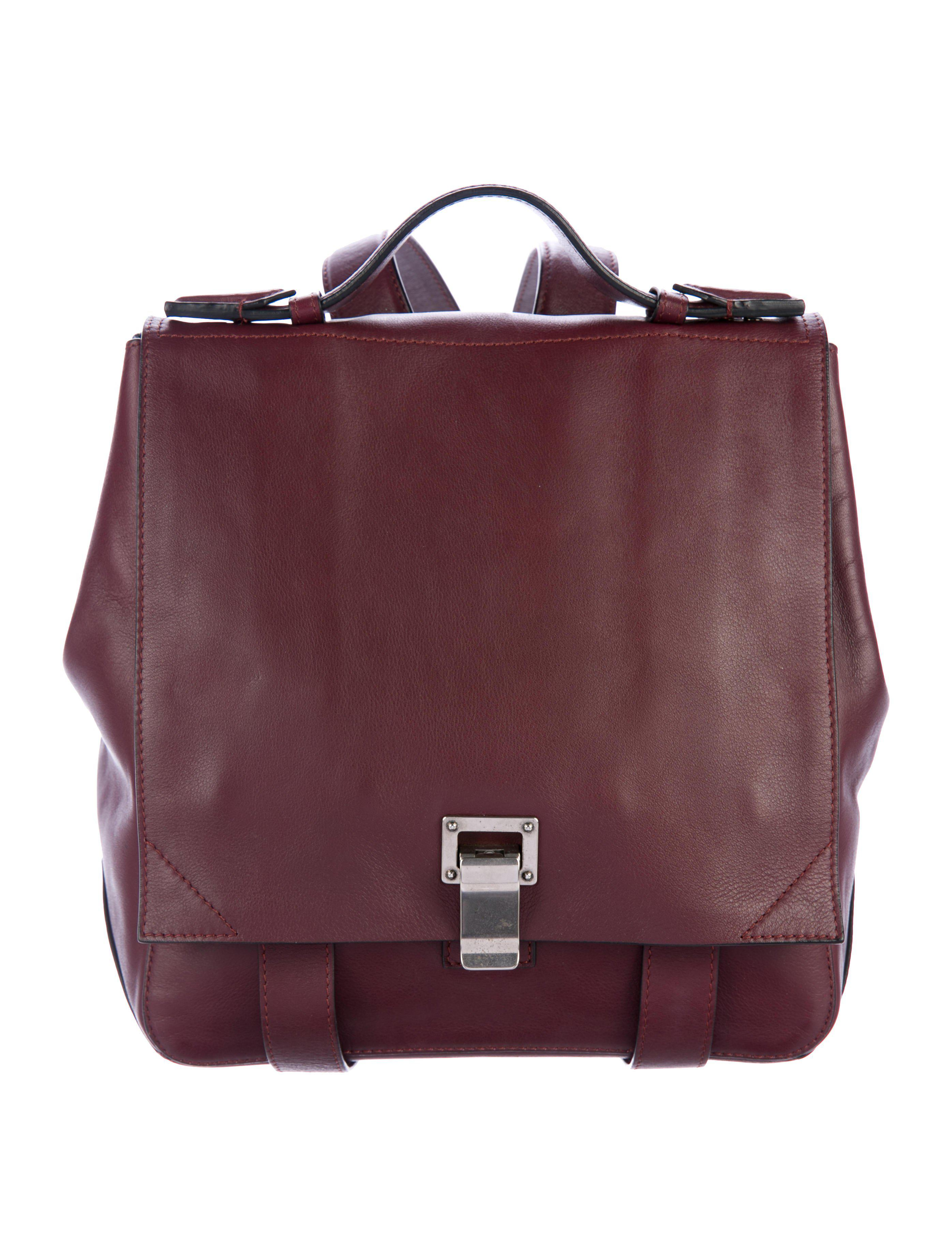 bc3ba9d72a65 Proenza Schouler - Metallic Small Courier Backpack Silver - Lyst. View  fullscreen
