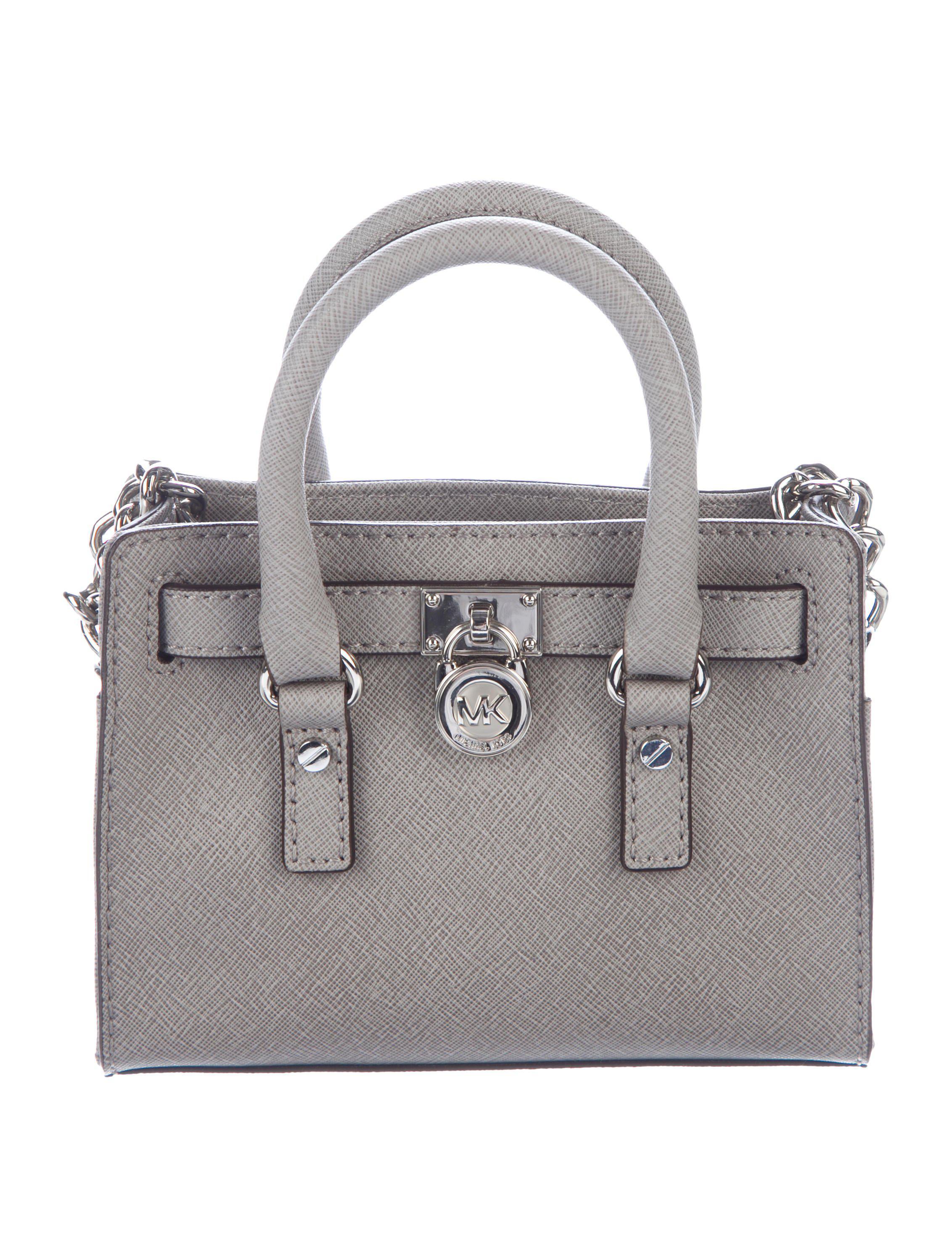 c7035168af55 ... get michael michael kors. womens metallic michael kors micro hamilton  satchel grey e4e6b 561dc