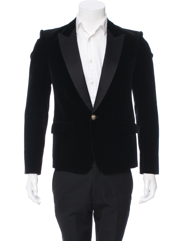 3395530d Lyst - Balmain Satin-trimmed Velvet Tuxedo Jacket in Black for Men