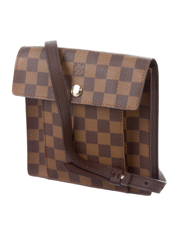 608d3b82811e Lyst - Louis Vuitton Damier Ebene Pimlico Bag in Brown