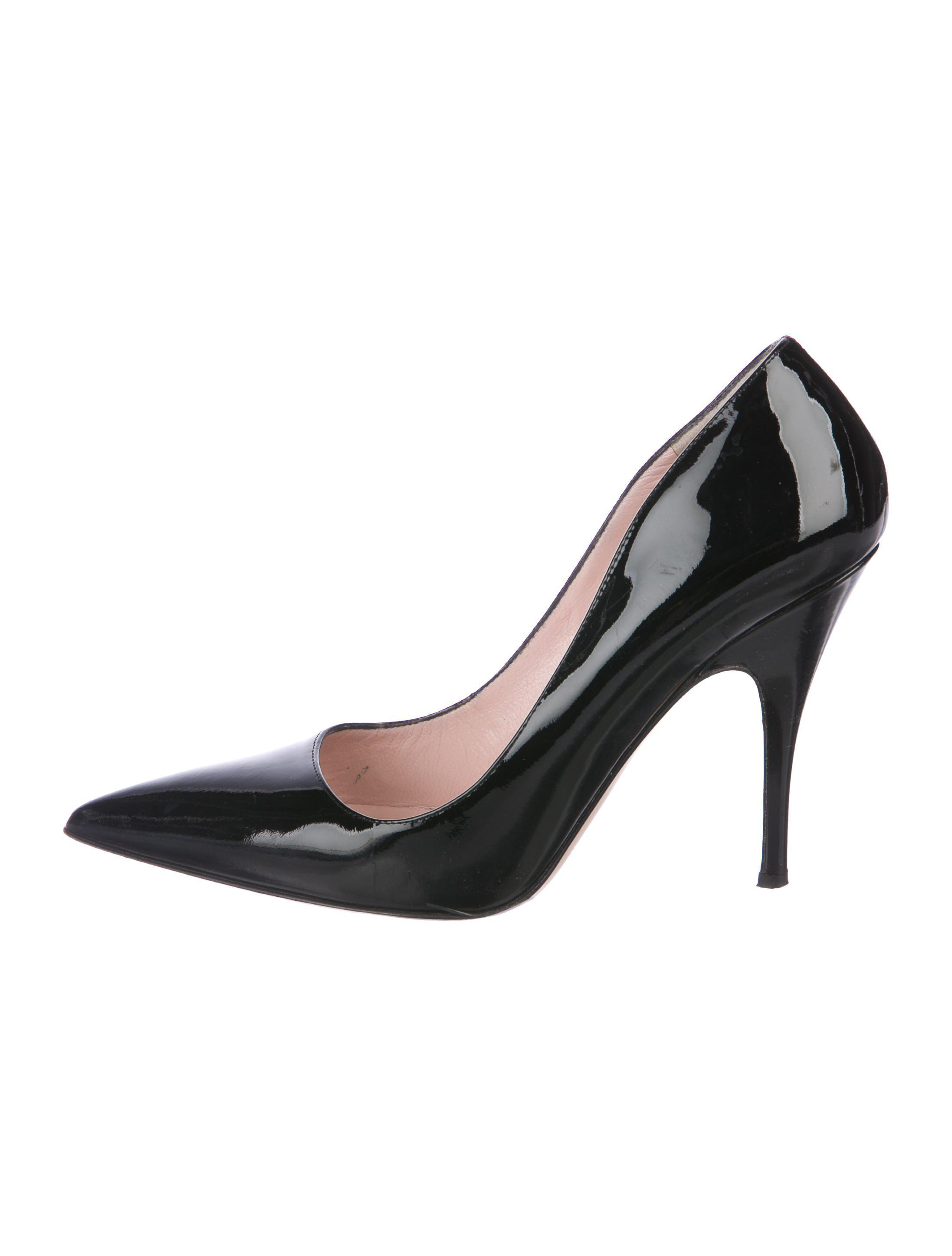307e518ca88e Lyst - Kate Spade Patent Leather Pointed-toe Pumps in Black