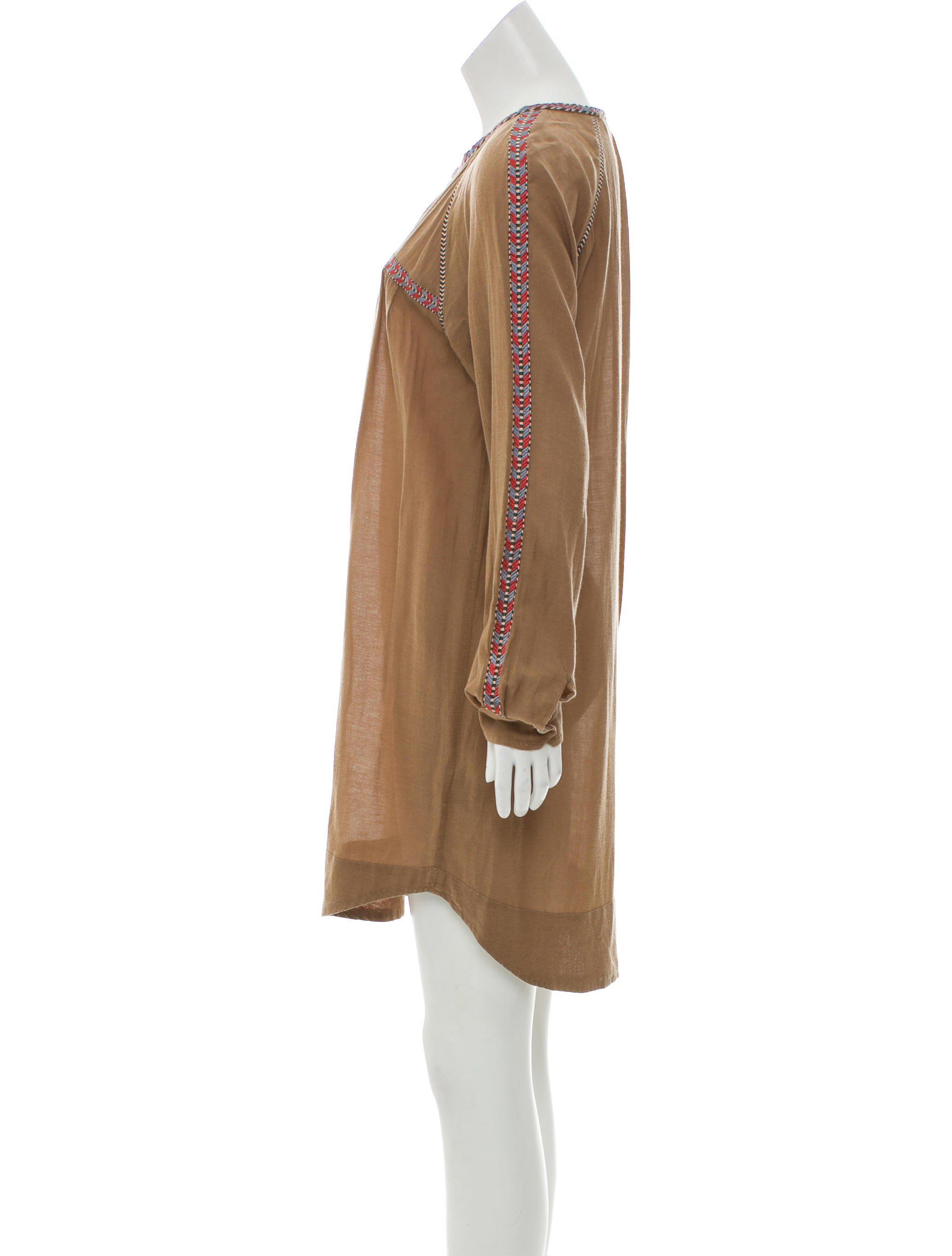 Lyst - Étoile Isabel Marant Embroidered Mini Dress Olive in Green
