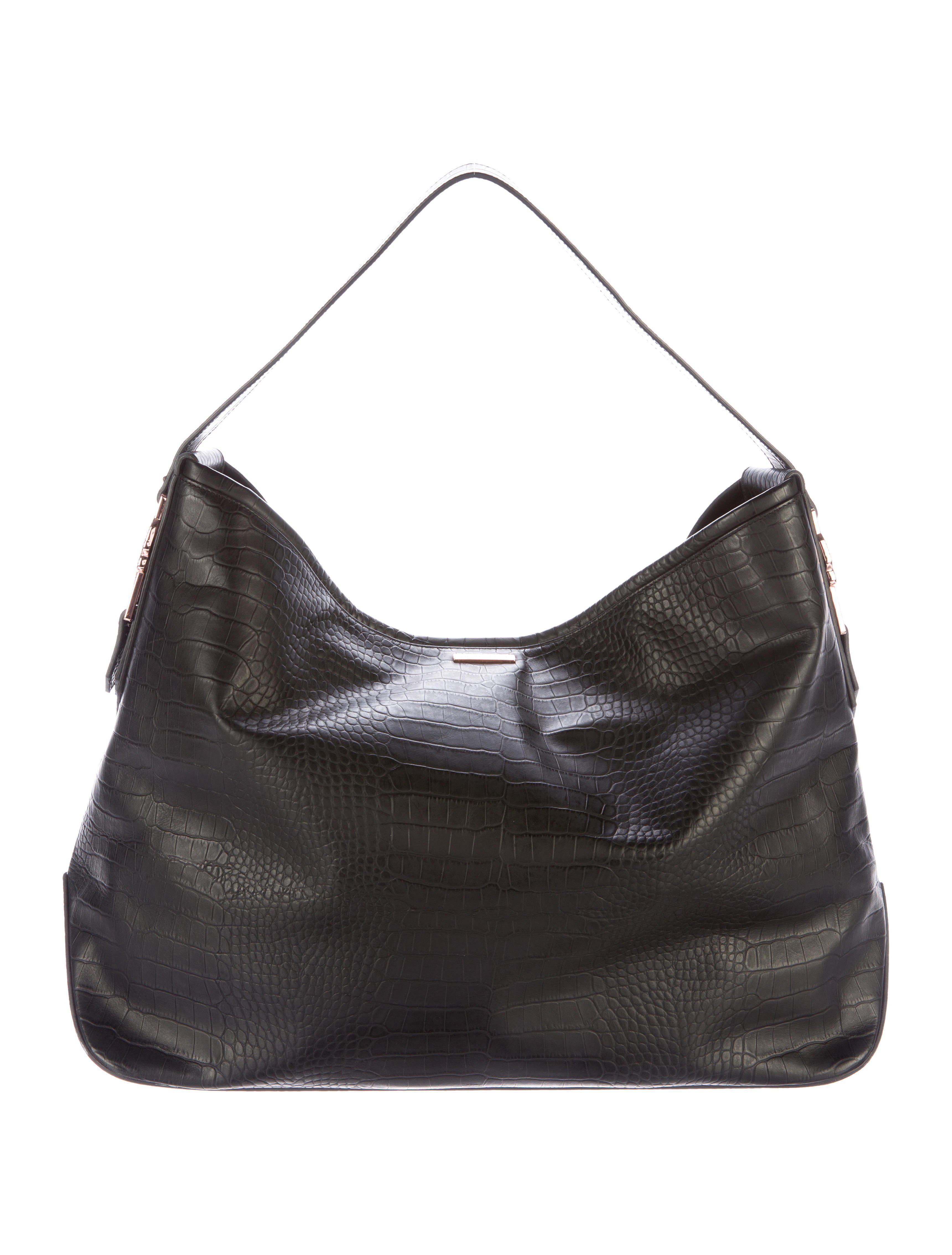 Lyst - Thomas Wylde Large Embossed Leather Hobo Black in Metallic df3b79ac635d3