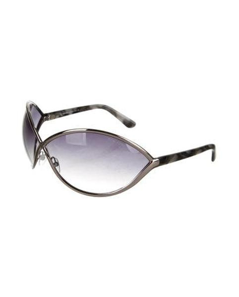 a47686a1d0a4b Lyst - Tom Ford Rickie Oversize Sunglasses Silver in Metallic