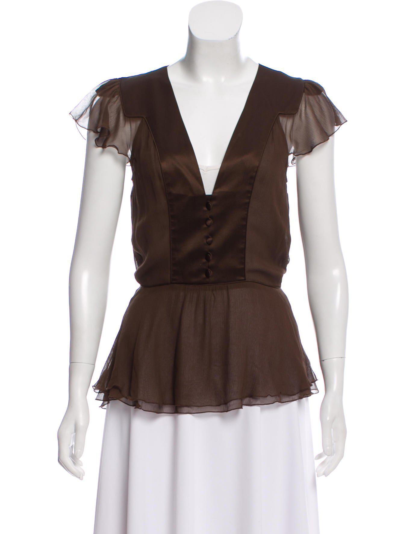 Many Kinds Of Cheap Price View Cheap Price Diane von Furstenberg Lidiya Silk Top Huge Surprise For Sale Largest Supplier Online 9vdafa