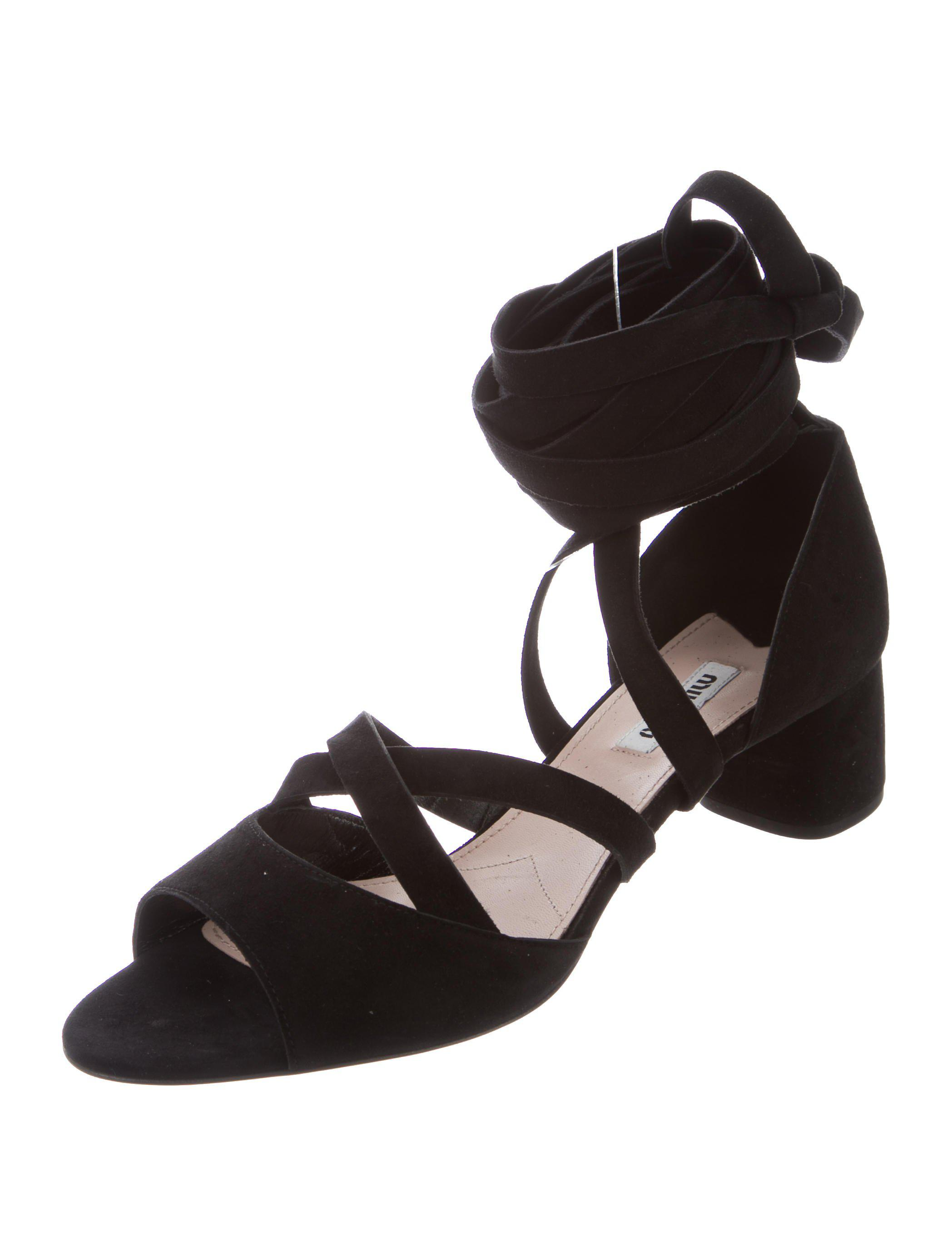 Miu Miu Leather Lace-Up Sandals w/ Tags supply cheap price discount with credit card clearance really really cheap cheap sale online jeAvf