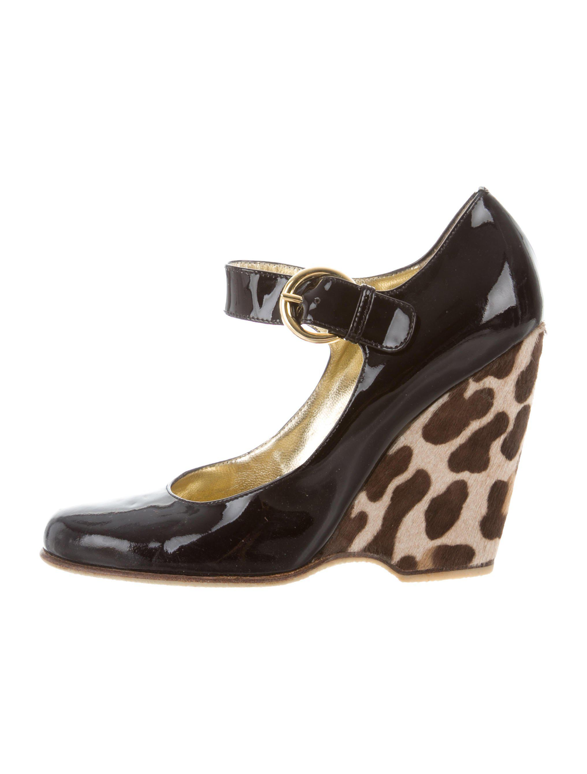 Giuseppe Zanotti Round-Toe Leopard Wedges latest collections sale online buy cheap very cheap ScdeZ