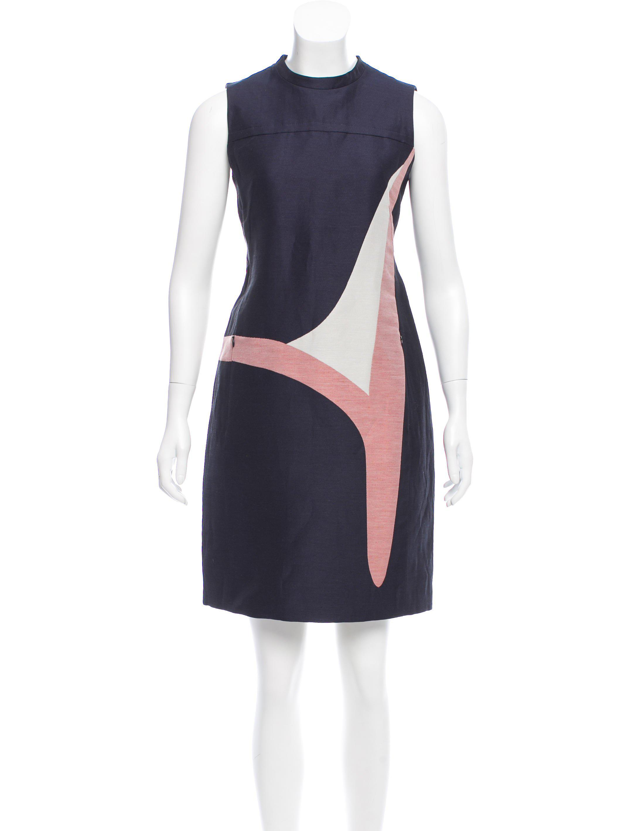 a20b529bb01 Lyst - Akris Punto Linen-blend Shift Dress W  Tags Navy in Blue