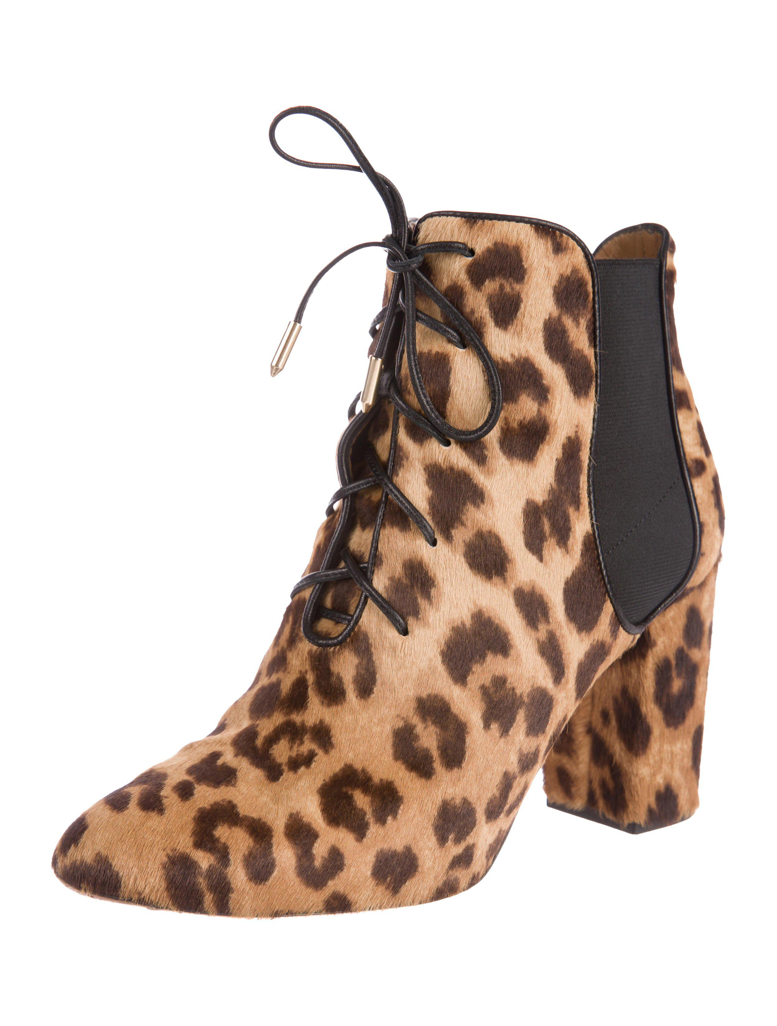 Aquazzura Ponyhair Lace-Up Boots 2014 new cheap online footlocker pictures sale online yy0ucYxEmS
