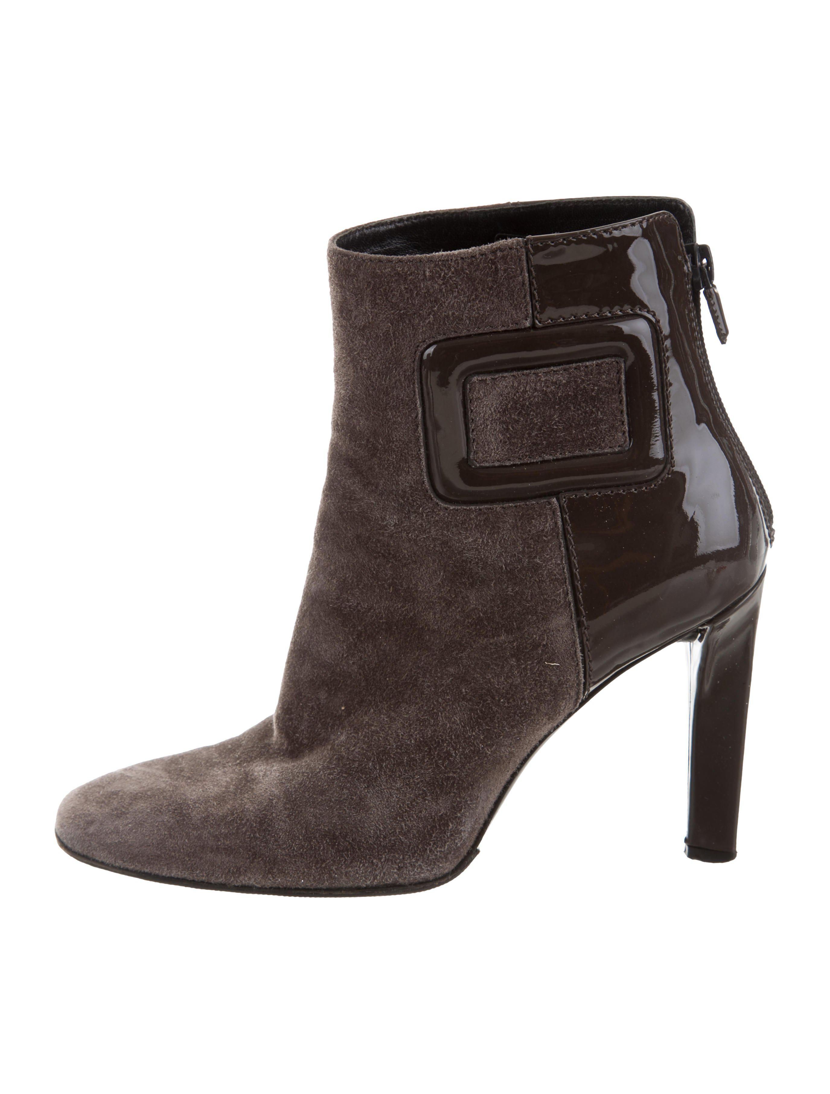 clearance low price fee shipping discount excellent Roger Vivier Suede Square-Toe Ankle Boots Xp75wy