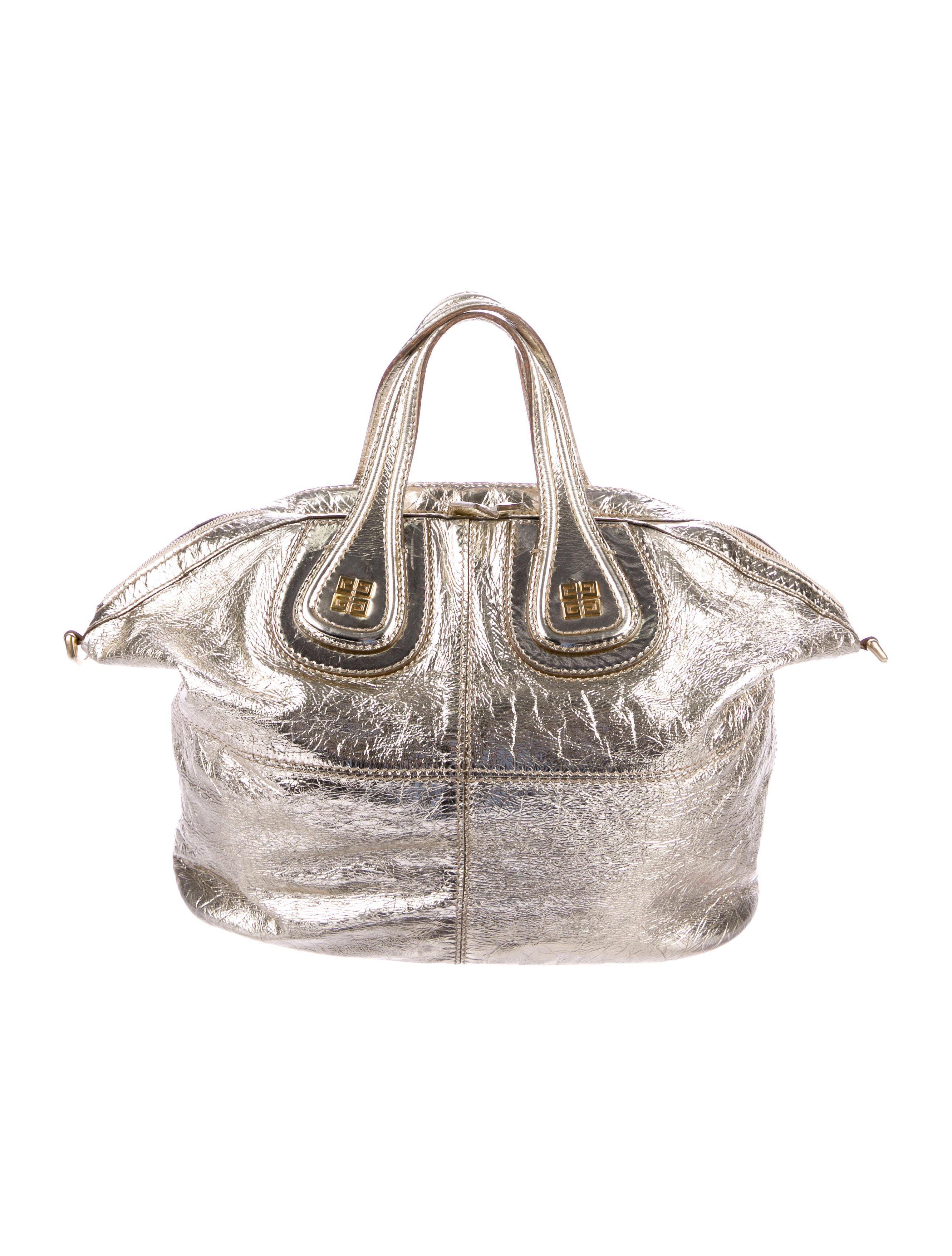 805f9deb32 Lyst - Givenchy Distressed Leather Antigona Satchel Gold in Metallic
