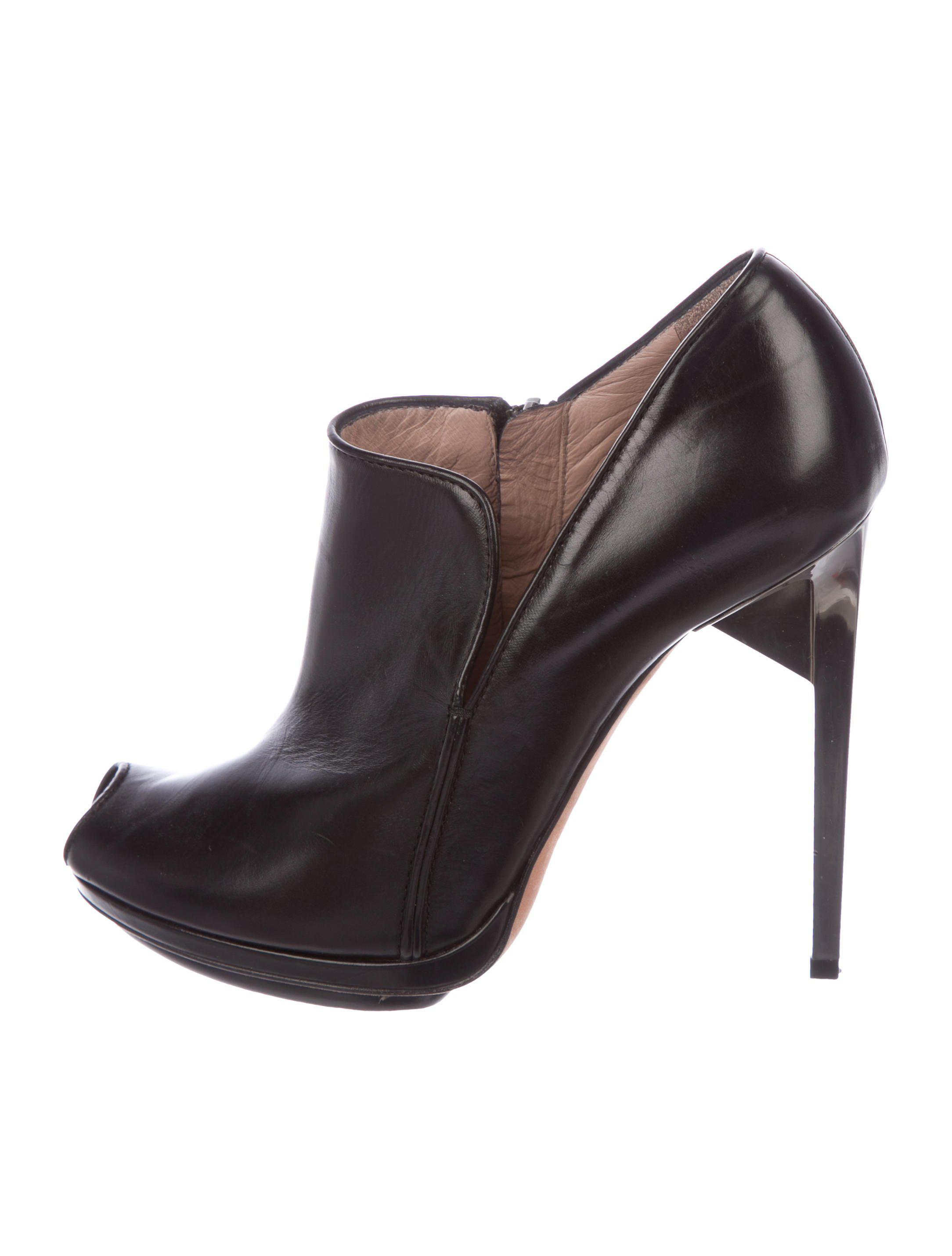Herve Leger Ponyhair Peep-Toe booties cheap manchester great sale buy cheap supply outlet best store to get reliable free shipping fashion Style FQCRyCZR