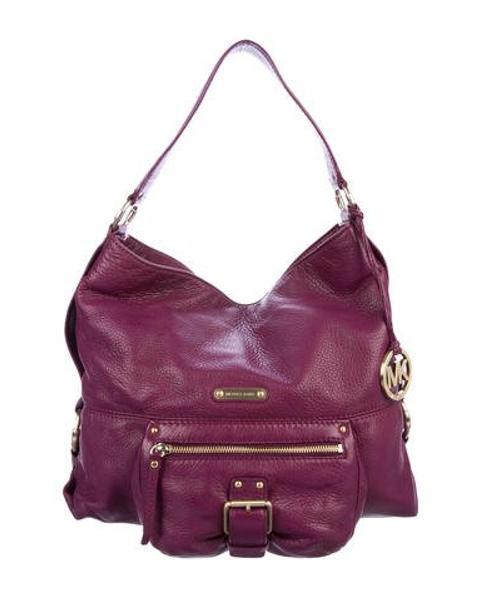 cf1ed1a88d98 MICHAEL Michael Kors. Women s Metallic Michael Kors Pebbled Leather Hobo  Purple