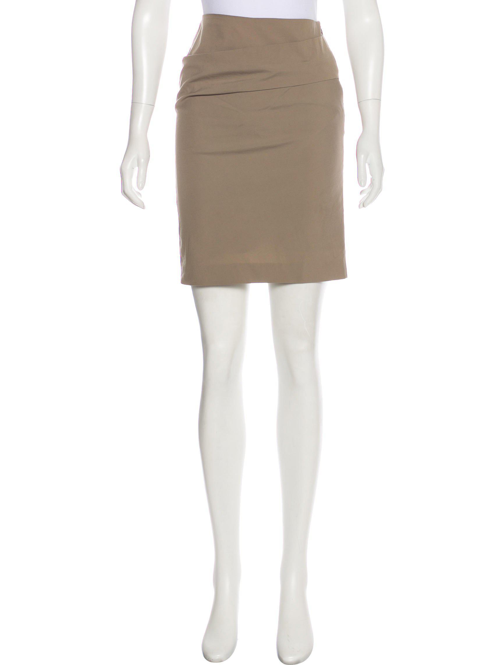 19b3265f4 Lyst - Brunello Cucinelli Mini Pencil Skirt Khaki in Natural