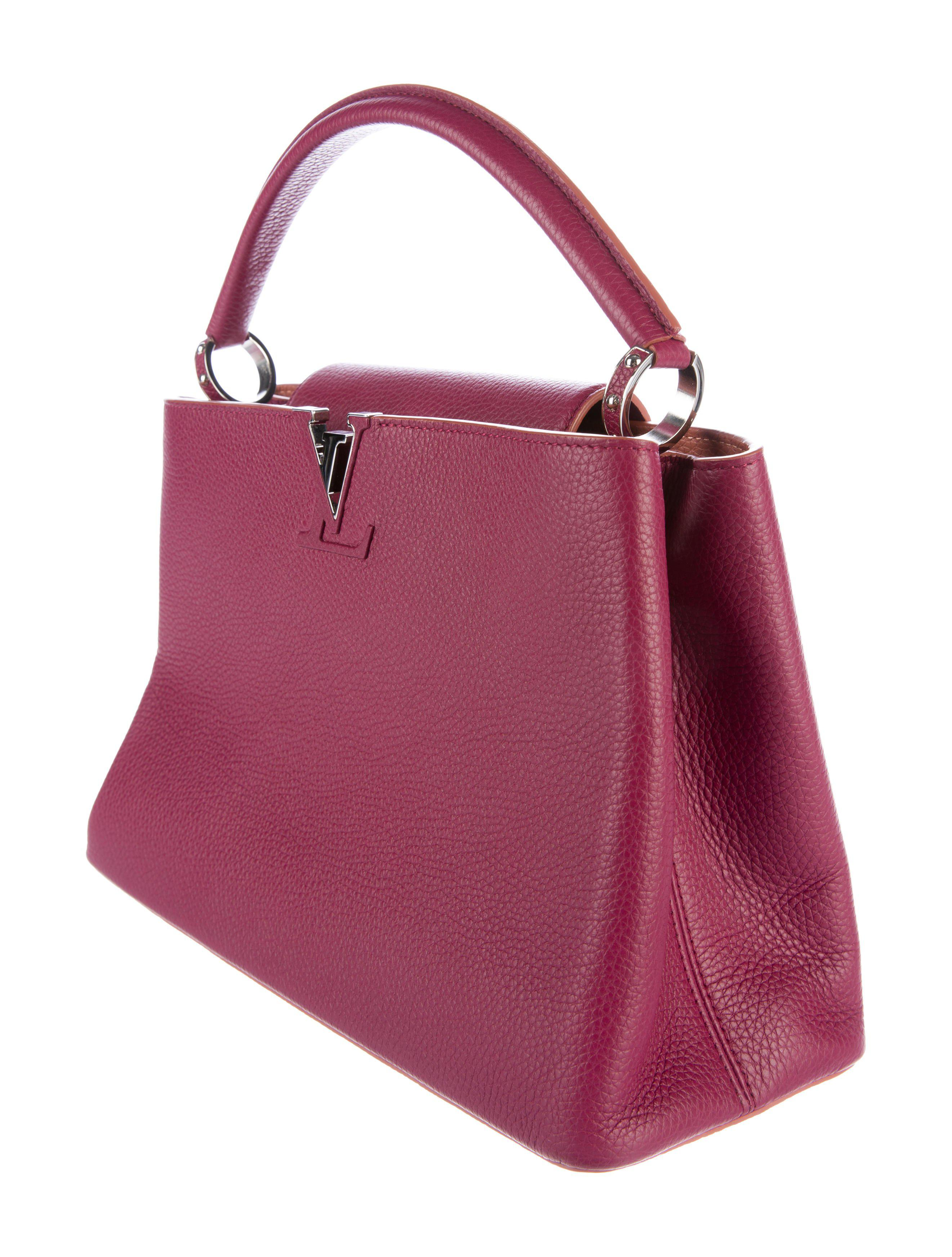 Lyst - Louis Vuitton 2015 Parnasséa Taurillon Capucines Mm Silver in ... 82430f9dff12f