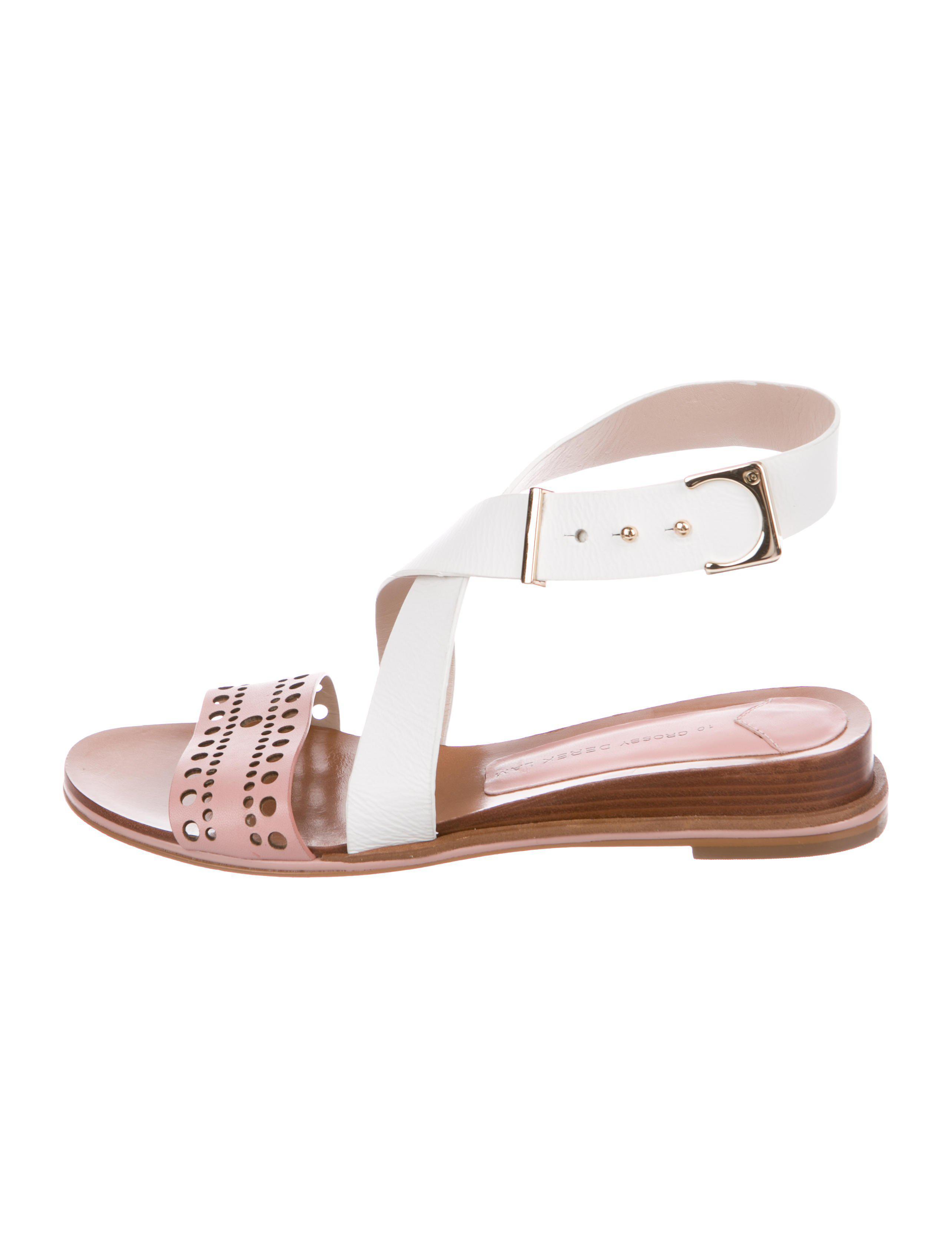 26df5c1f849977 Lyst - 10 Crosby Derek Lam Leather Laser Cut Sandals in Pink