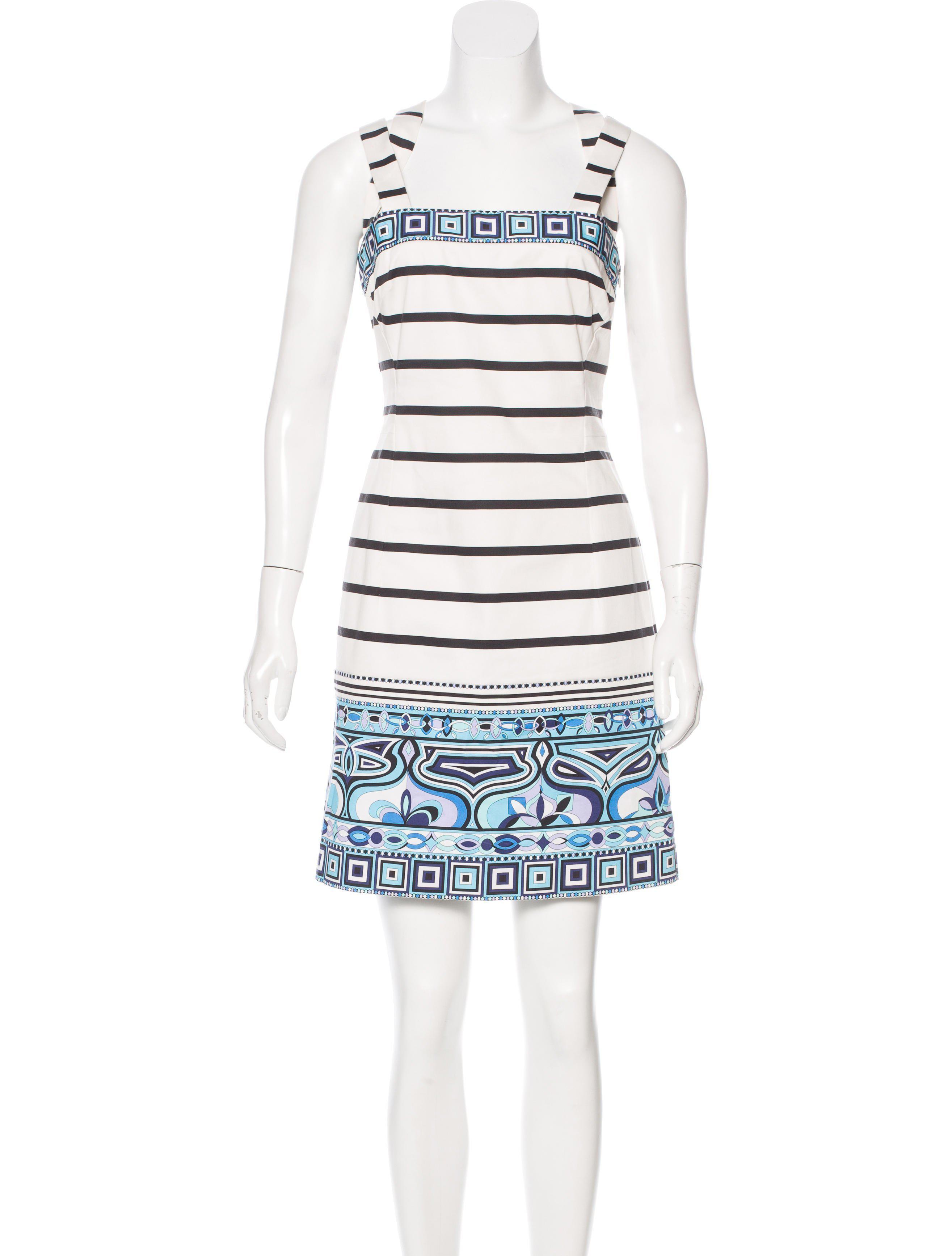 Emilio Pucci Woman Printed Silk Mini Dress Light Blue Size 46 Emilio Pucci T9IGmmJngj