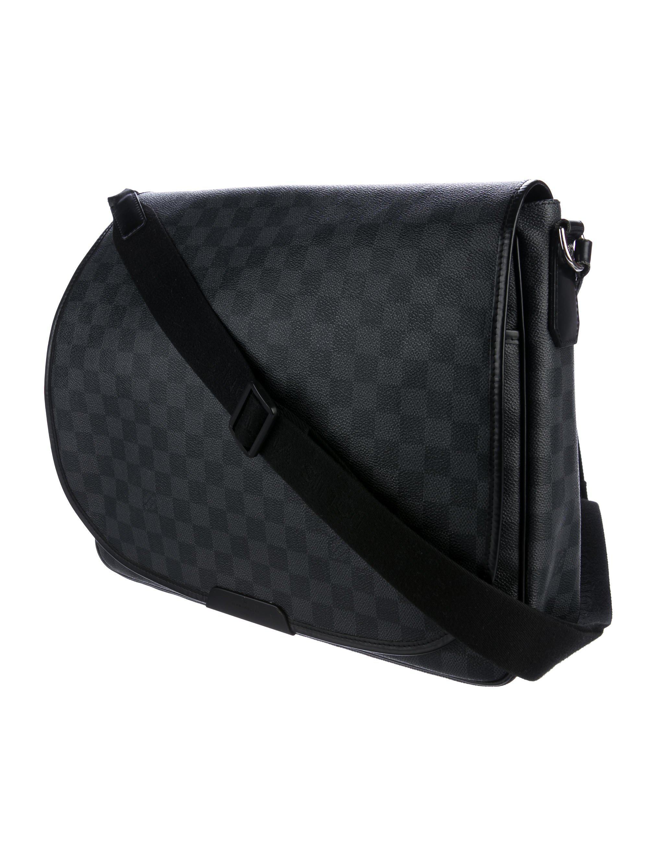 95688d66079b Lyst - Louis Vuitton Damier Graphite Daniel Messenger Gm Black in ...