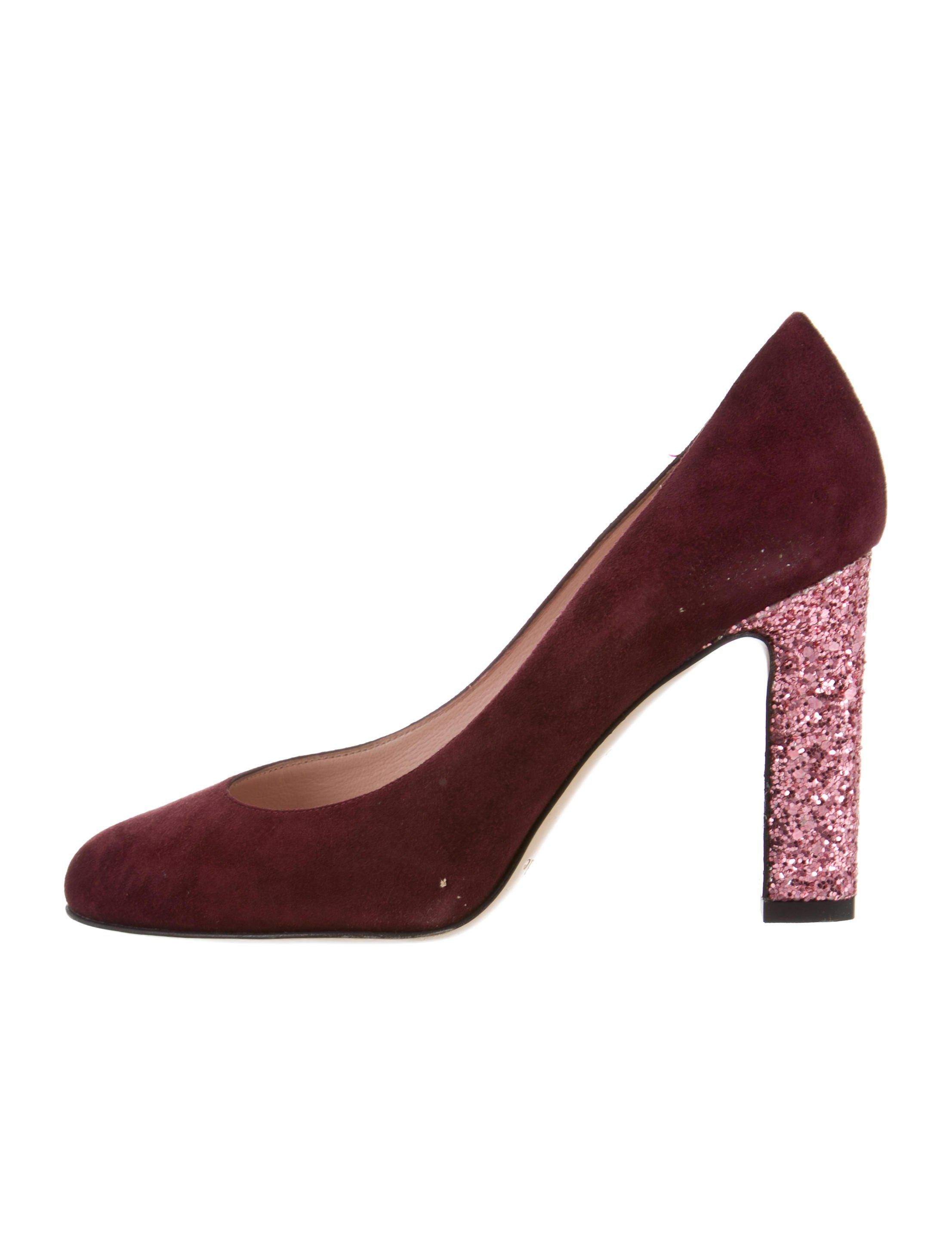 4871905039b Lyst - Kate Spade Rounded-toe Suede Pumps in Red
