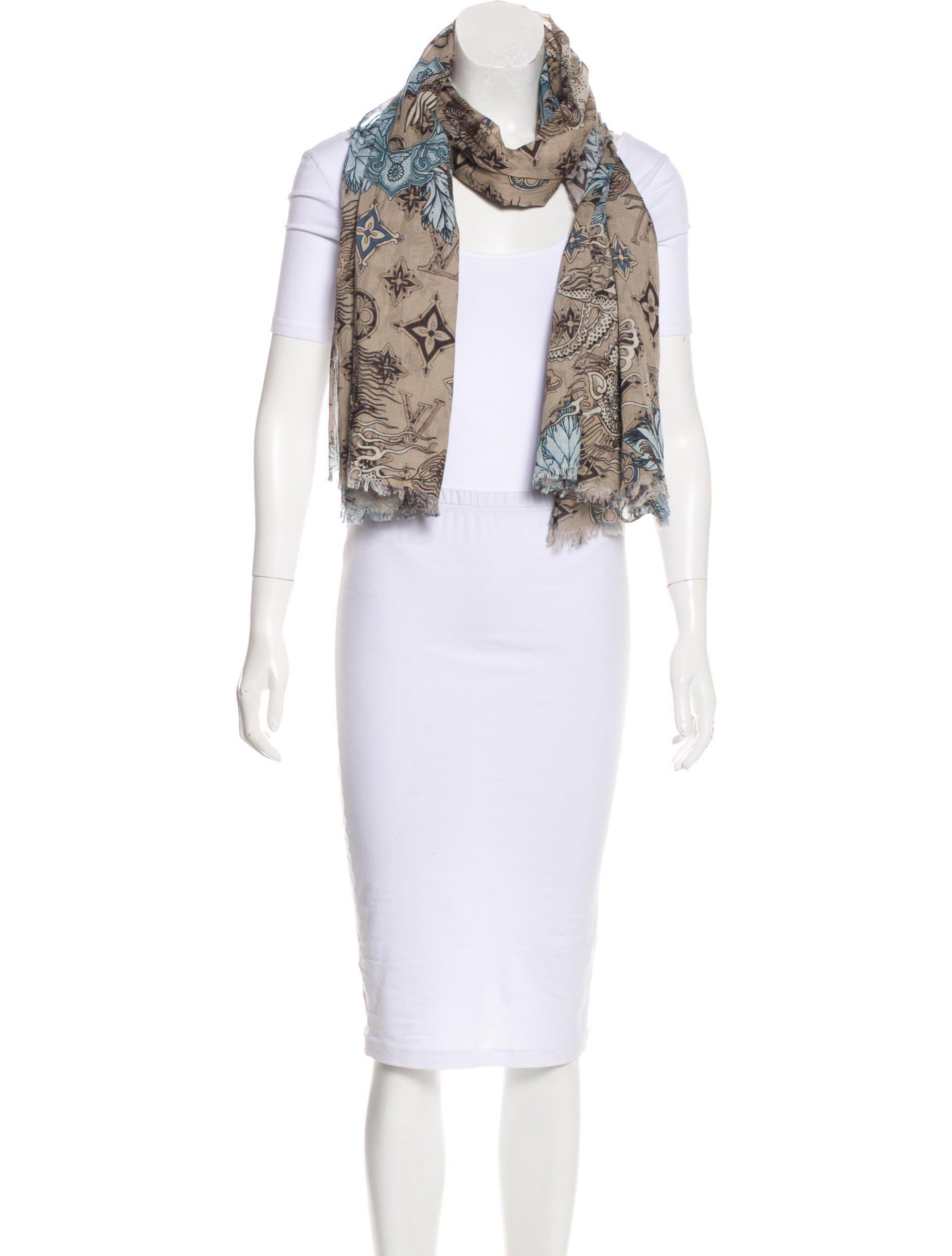 franco saks gallery black in ferrari scarf vintage product print accessories oversized lyst